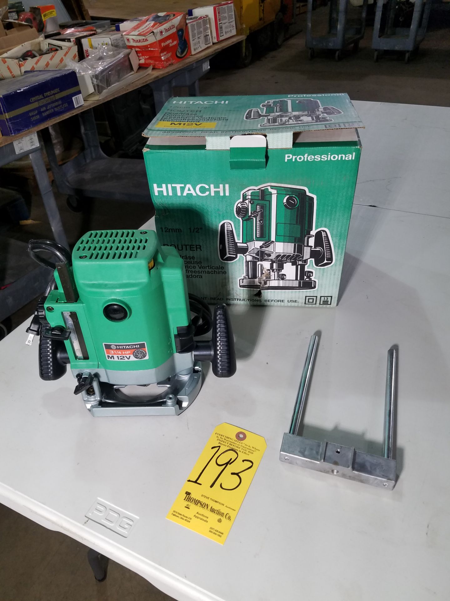 """Lot 193 - Hitachi M12V Router, 1/2"""", New"""