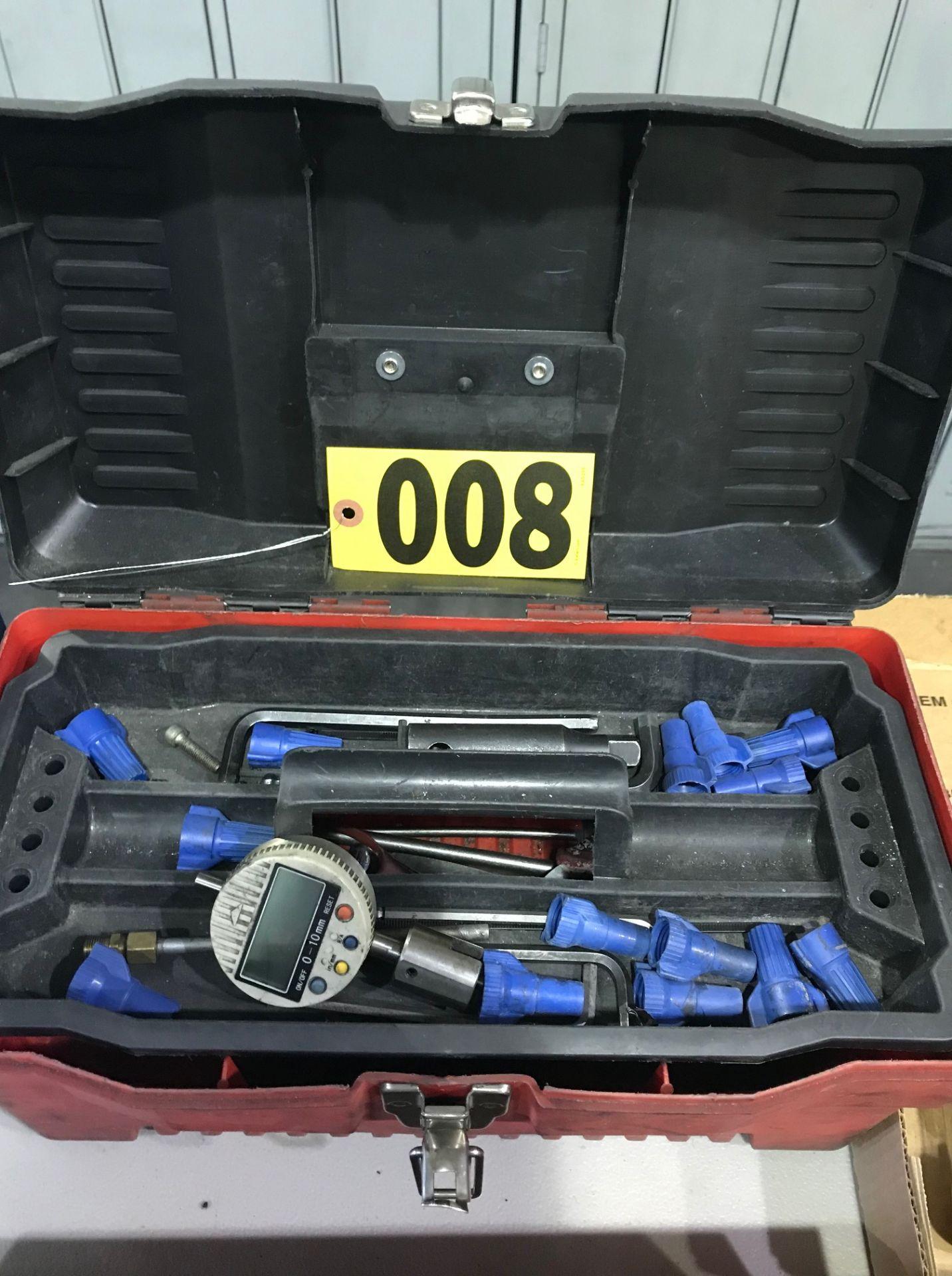 Lot 8 - Tool box, tools, & contents