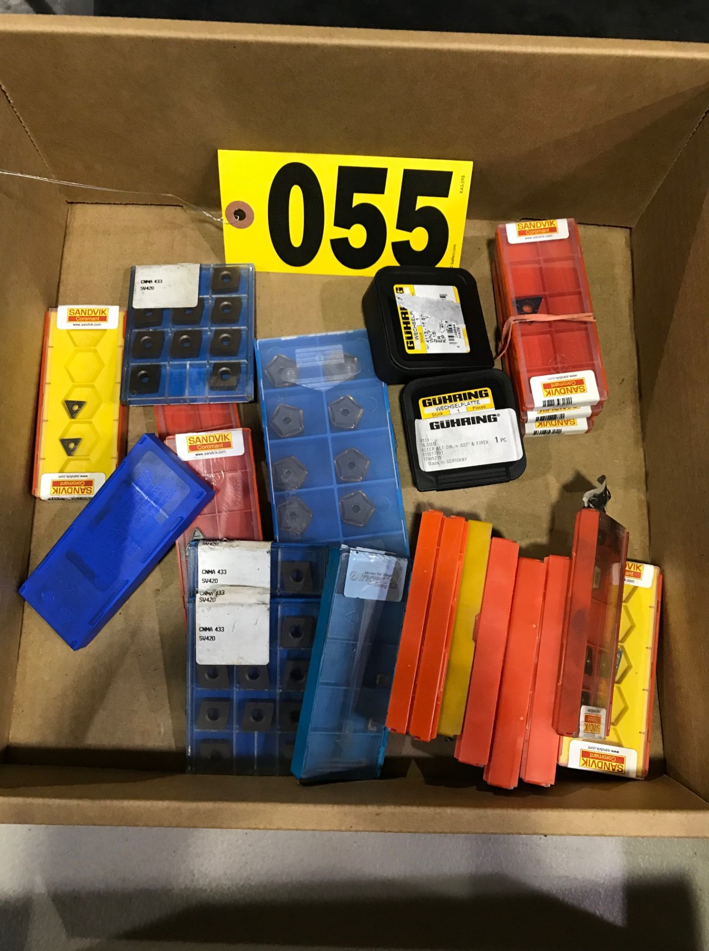 Lot 55 - Assorted cutting inserts