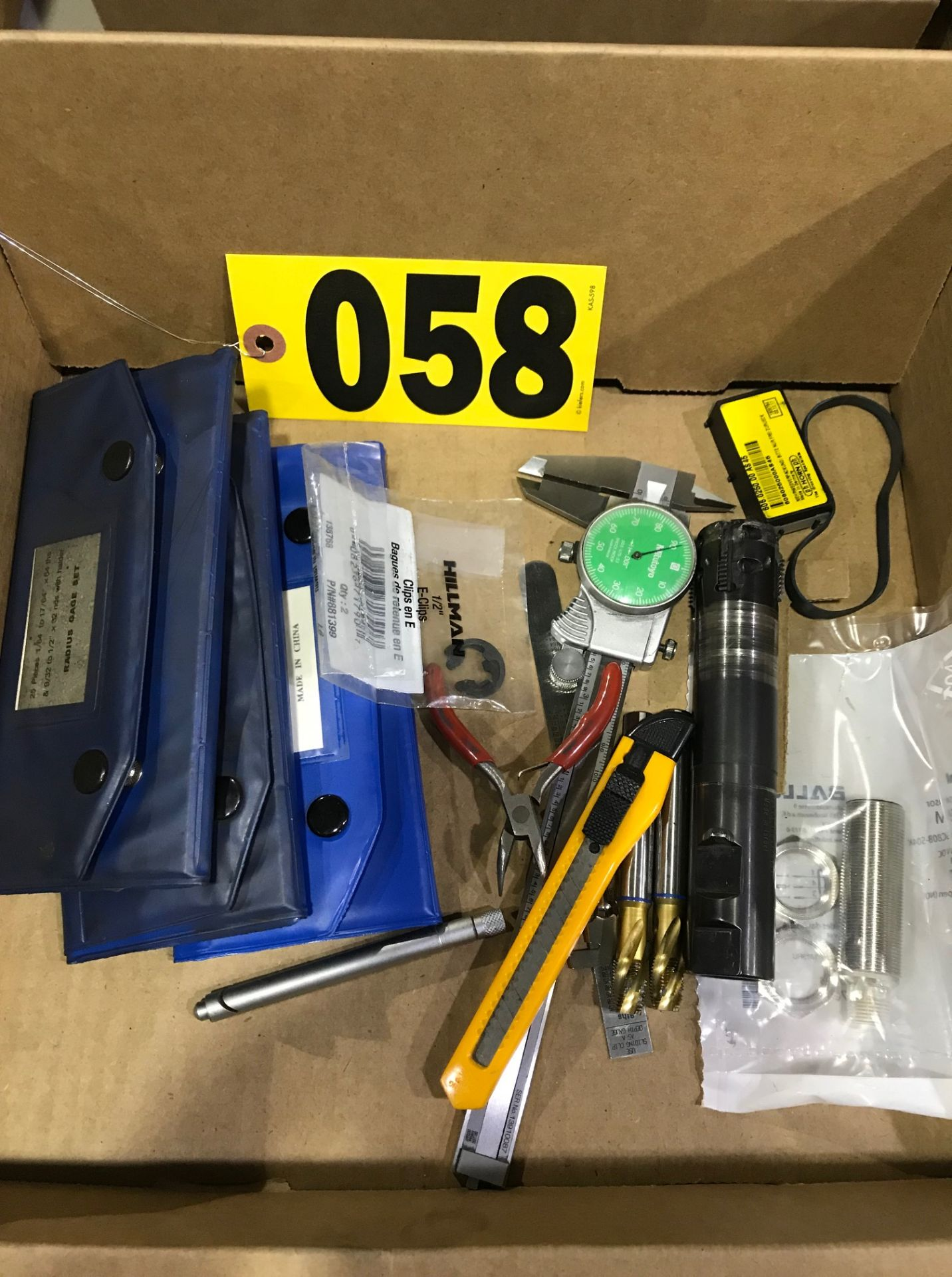 Lot 58 - Drill bits, gauges, 3 radius gauges