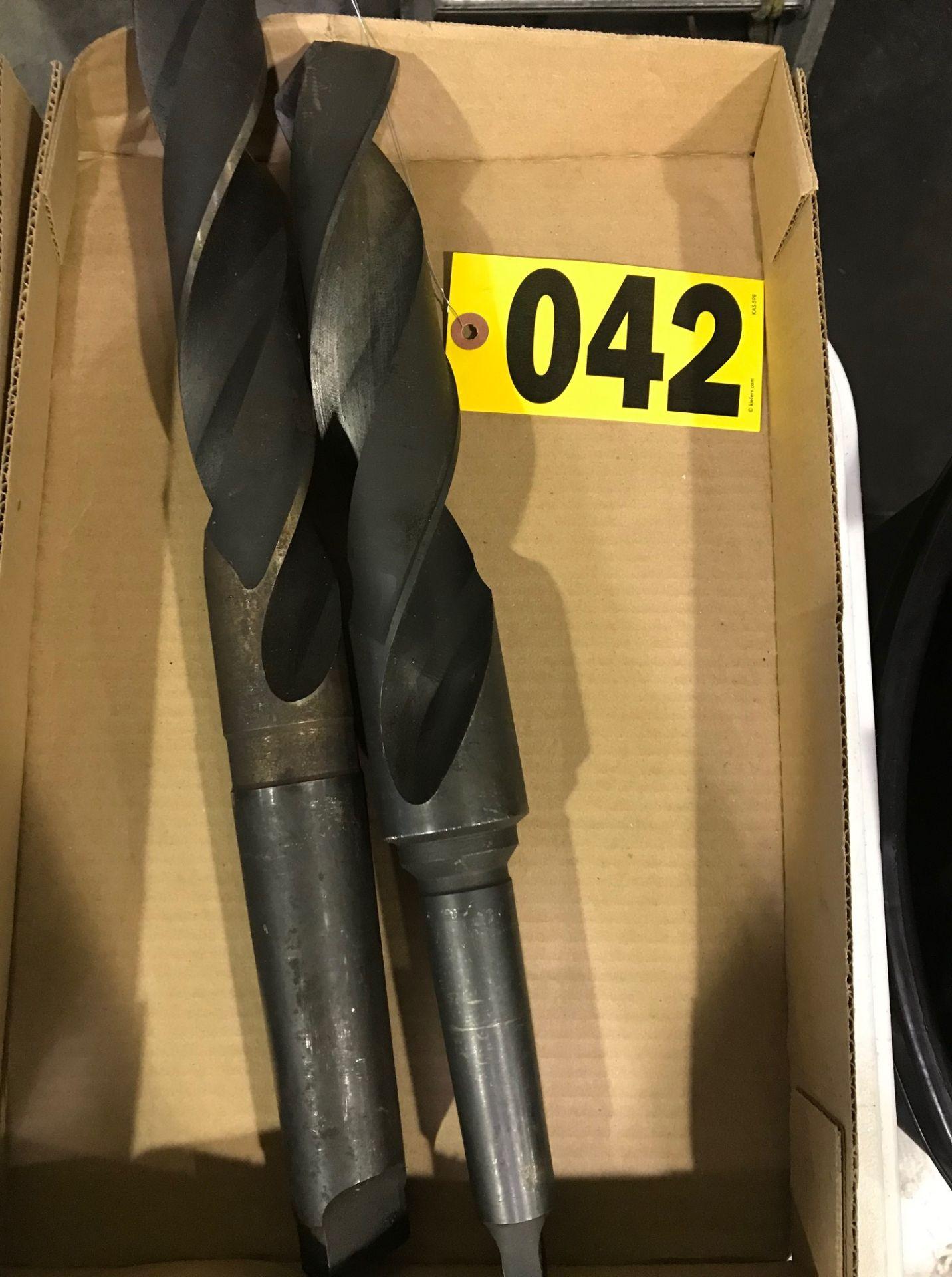 Lot 42 - (2) Large drill bits