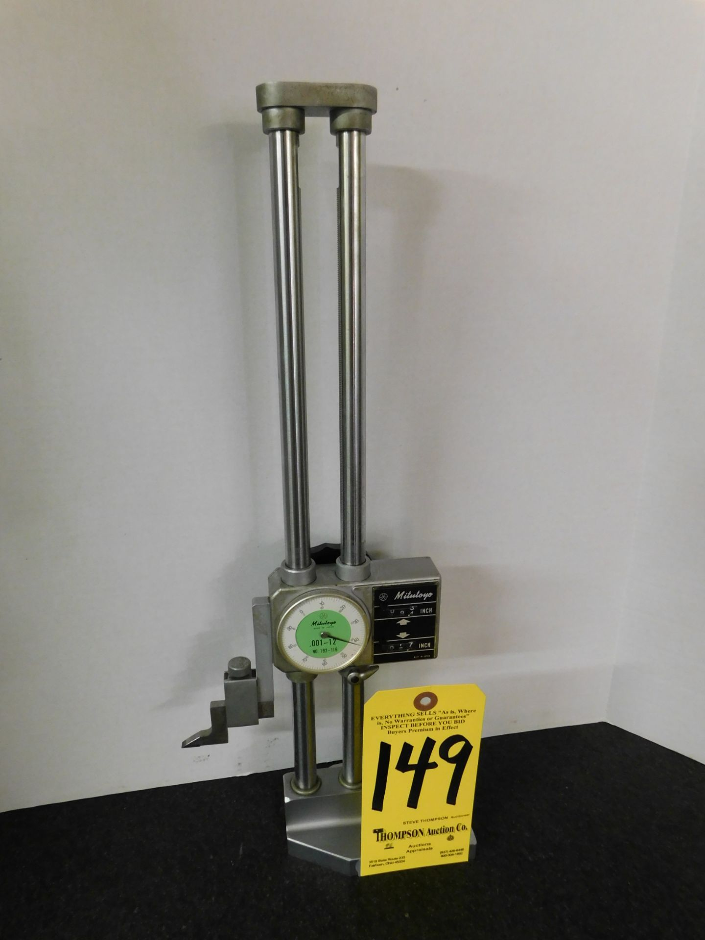Lot 149 - Mitutoyo 12 Inch Dial Height Gage