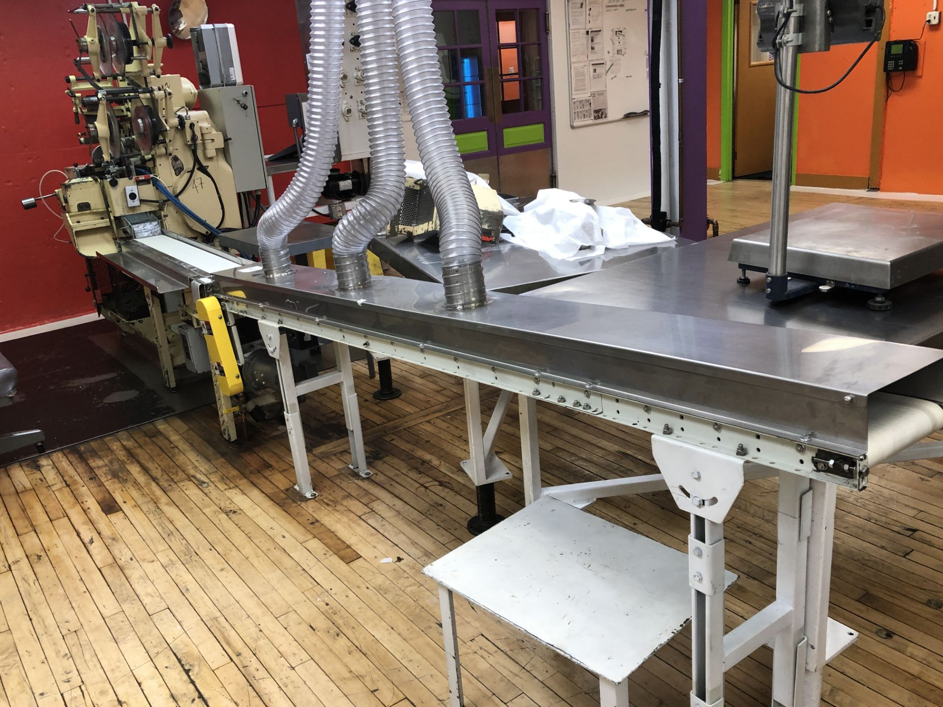 "Lot 48 - 6"" wide x 48"" long conveyor with 6"" x 96"" long closed conveyor"