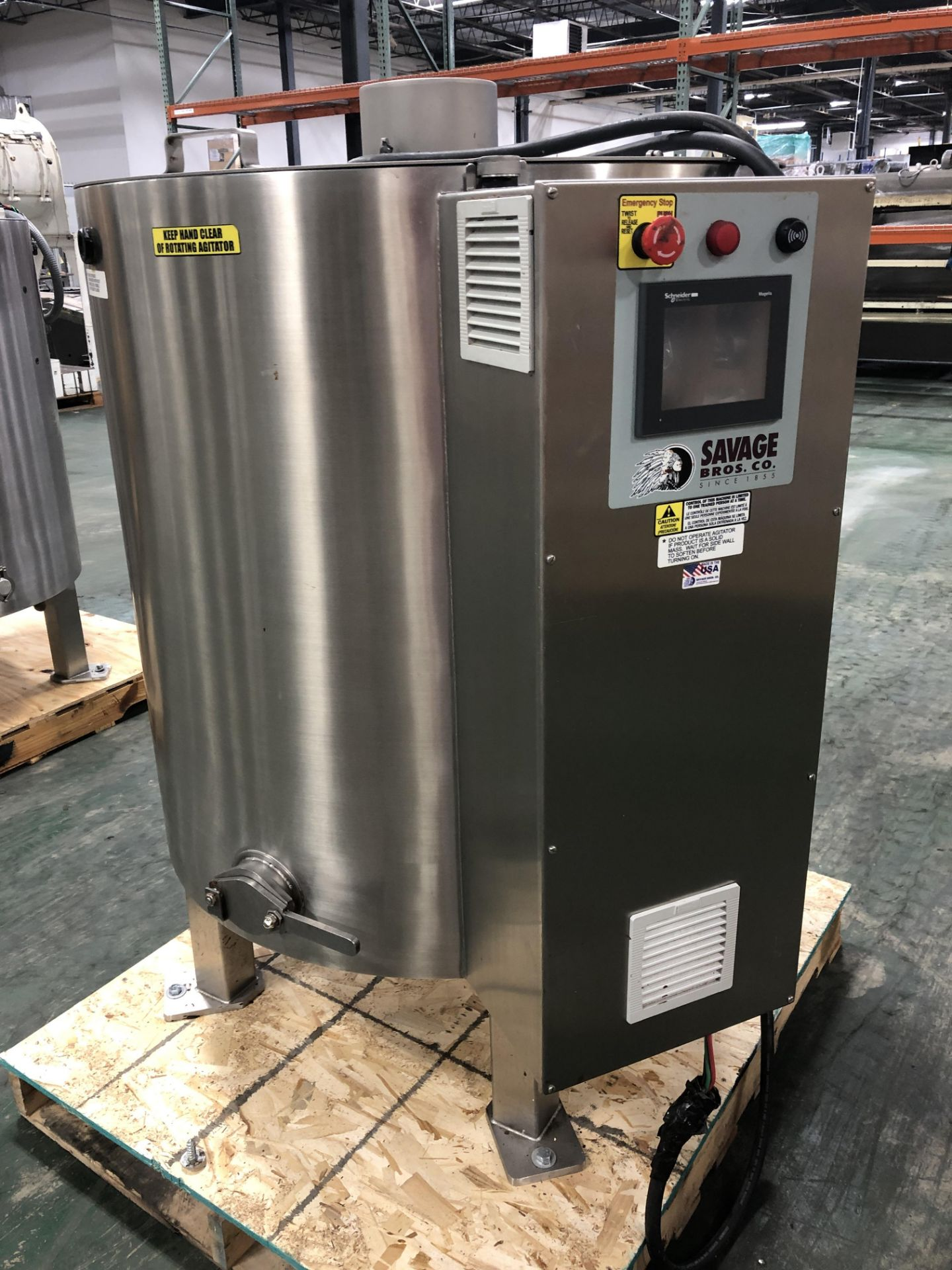 Lot 36 - Savage Stainless Steel 1250-lb Chocolate Melter, model 0974-36, with PLC touchscreen