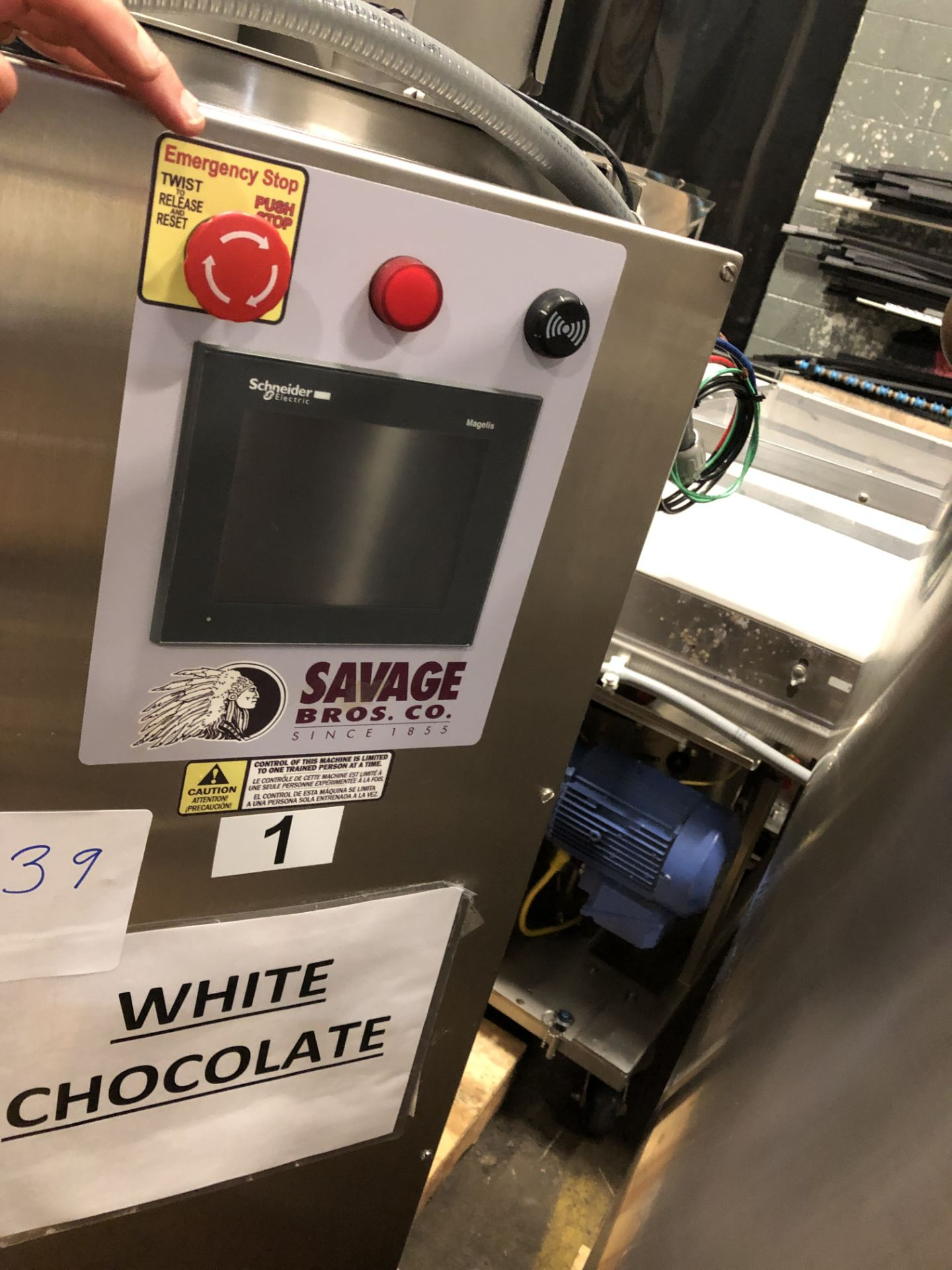 Lot 41 - Savage Stainless Steel 1250-lb Melter, model 0974-36, High Temperature model for melting chocolate