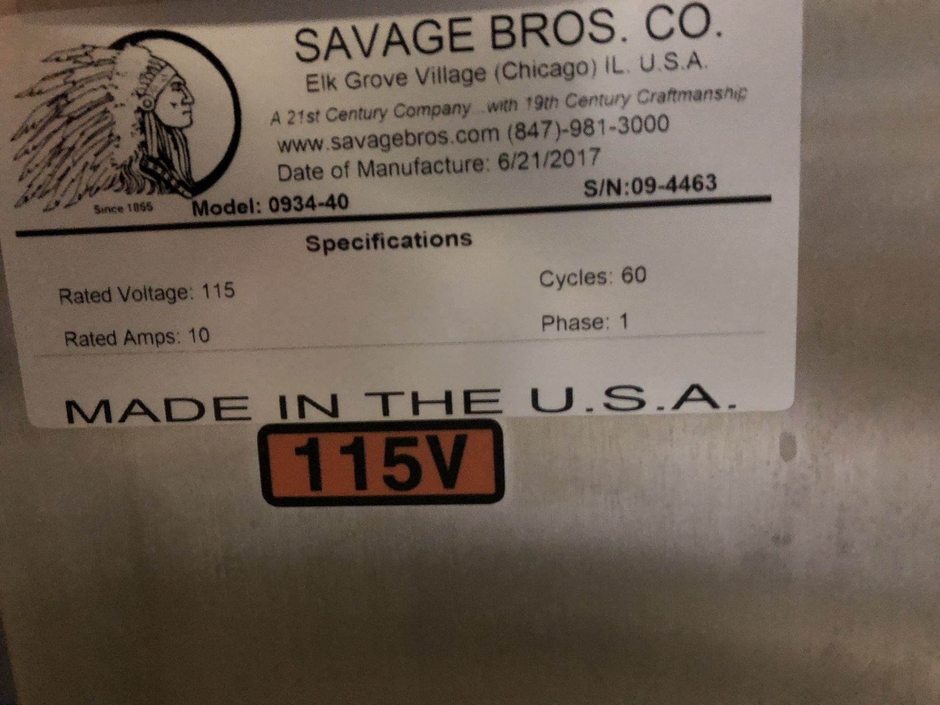 Lot 30 - Savage 50-lb Stainless Steel Chocolate Melter, model 0934-40, jacketed and agitated, electrically