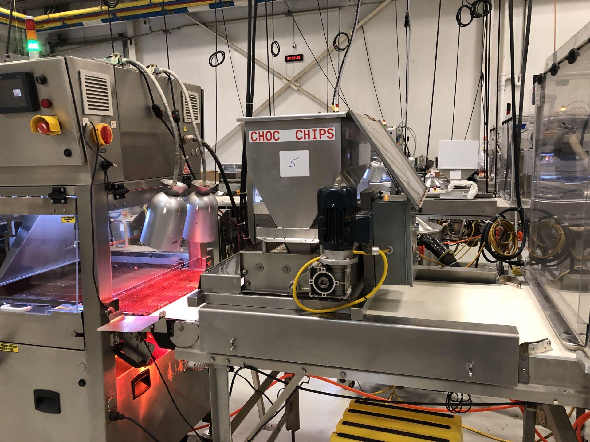 "Lot 8 - Corio Bakery Equipment 24"" wide Versa Topper Stainless Steel variable speed ingredient feeder. 110"