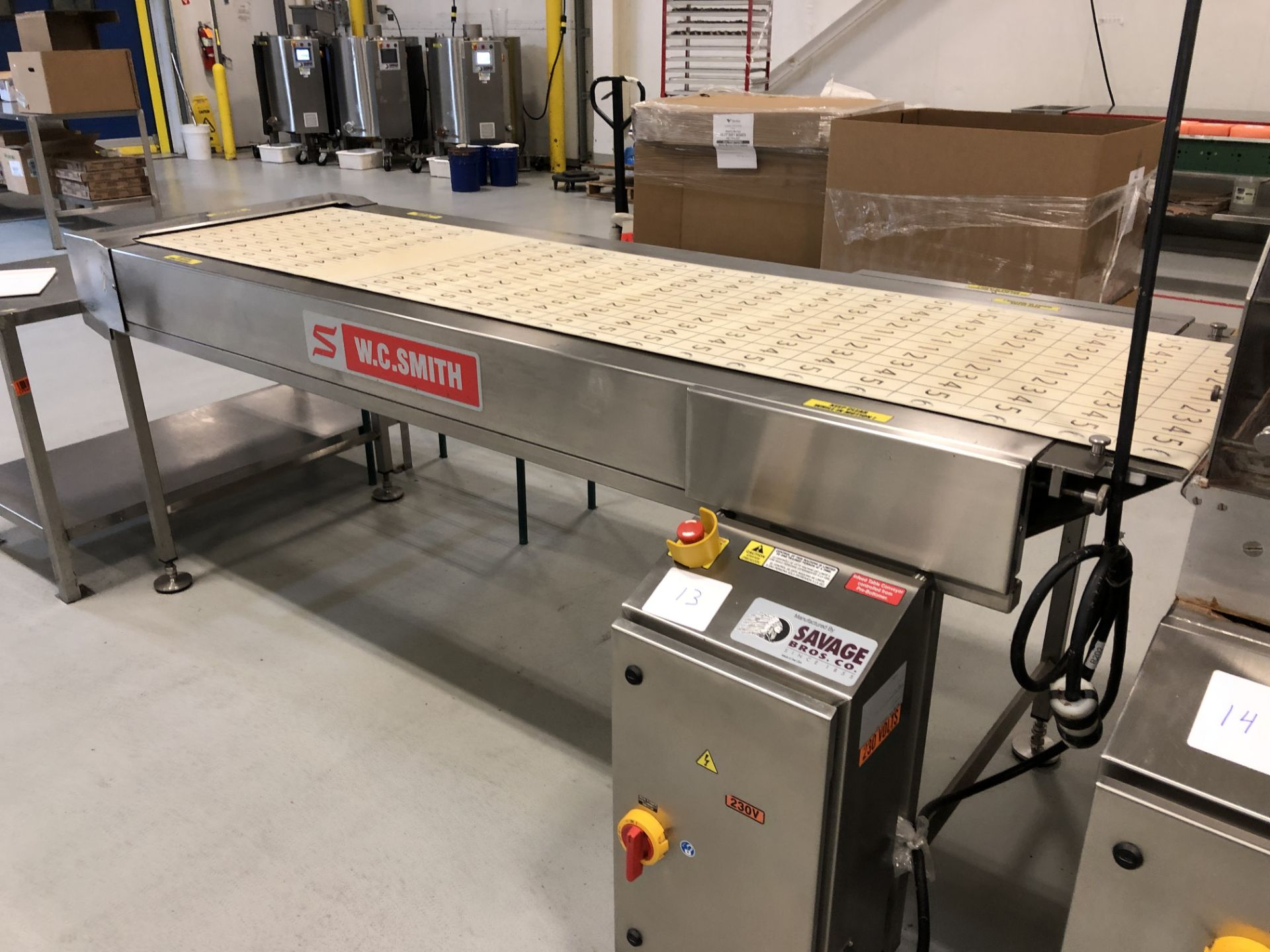 "Lot 12 - Smith 24"" Stainless Steel Enrobing line – New 2013 - Smith model 5224-49 8-ft long Stainless Steel"