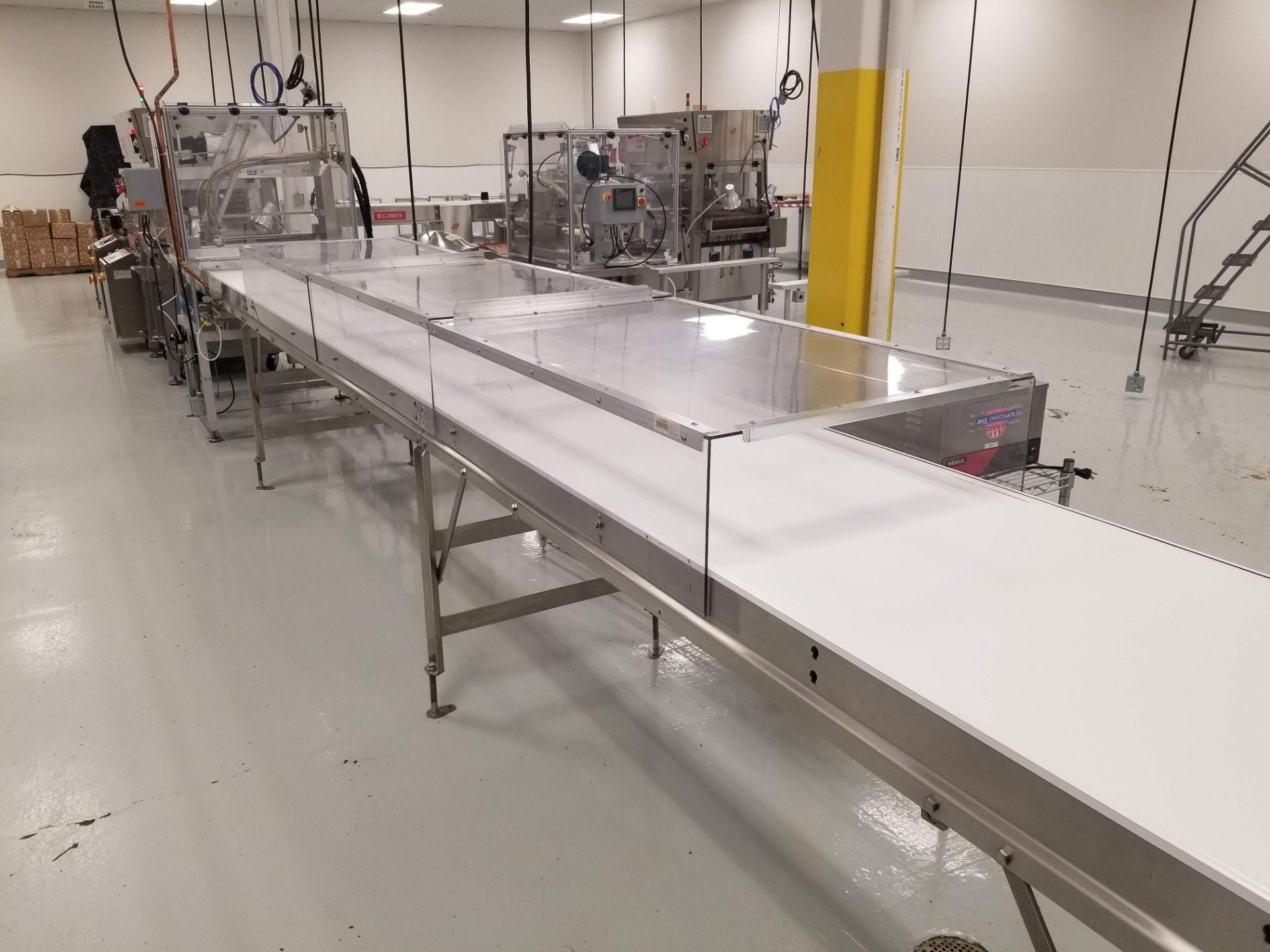 "Lot 17a - Dorner 27"" wide x 26-ft long Ambient Cooling Conveyor"