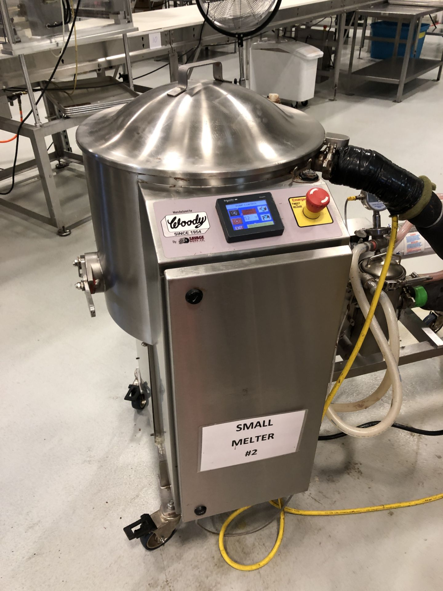 Lot 5 - Savage/Woody 125 lb Stainless Steel Chocolate Melter with Touchscreen controls, jacketed and