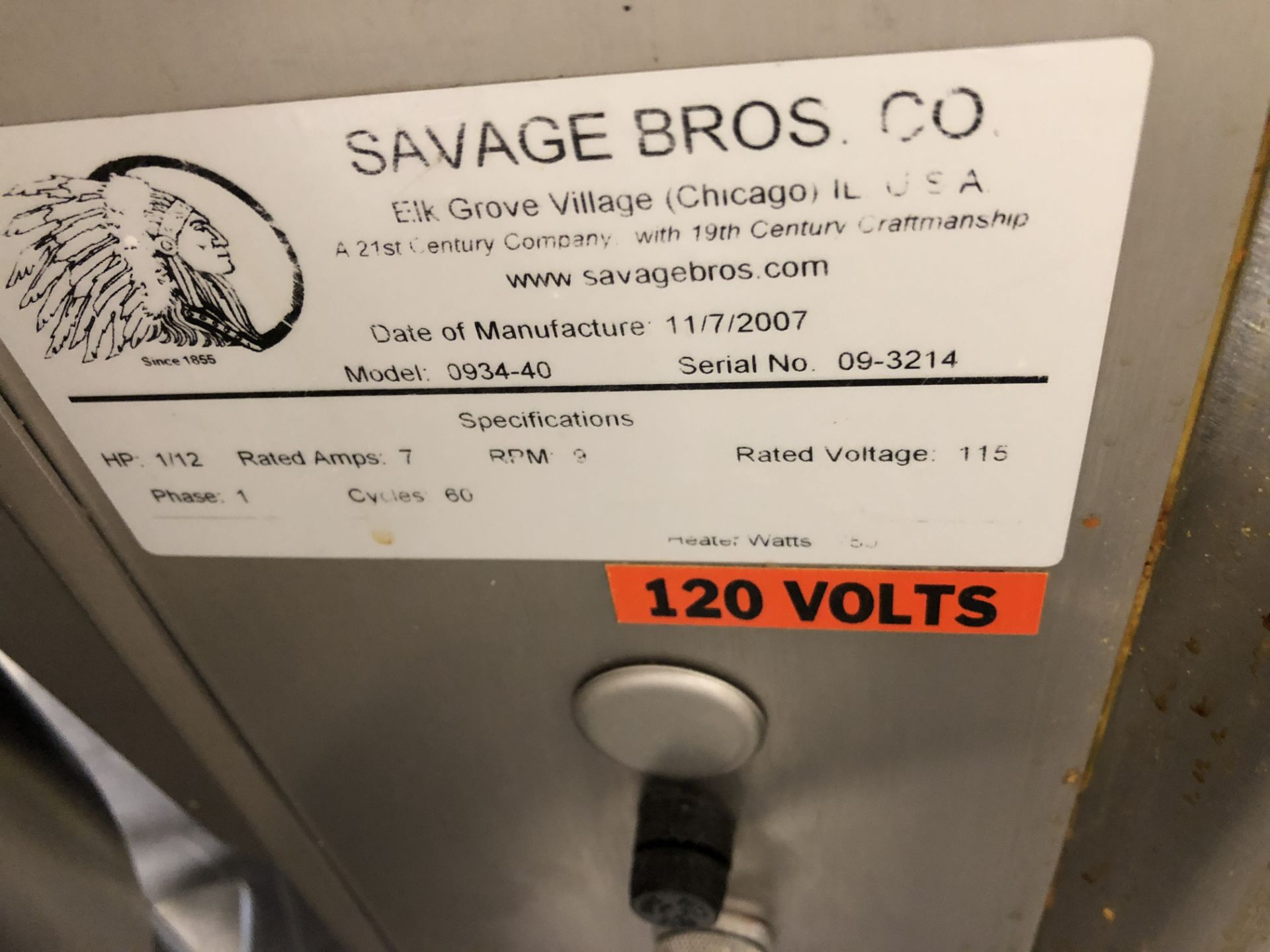 Lot 28 - Savage 50-lb Stainless Steel Chocolate Melter, model 0934-40, jacketed and agitated, electrically
