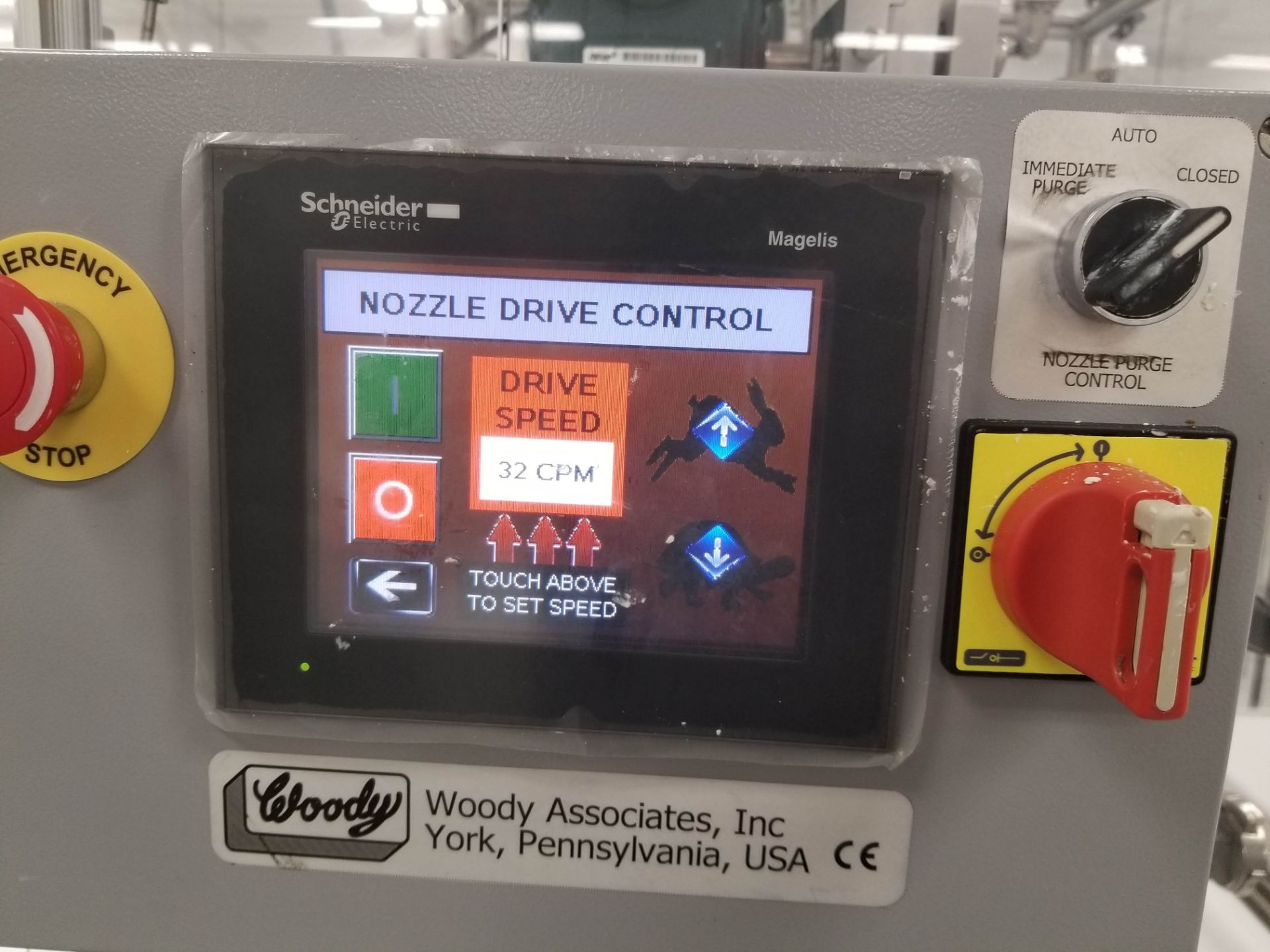 """Lot 22 - Woody 24"""" Stringer with Purge Nozzles and PLC Controls - Custom built to string chocolate"""