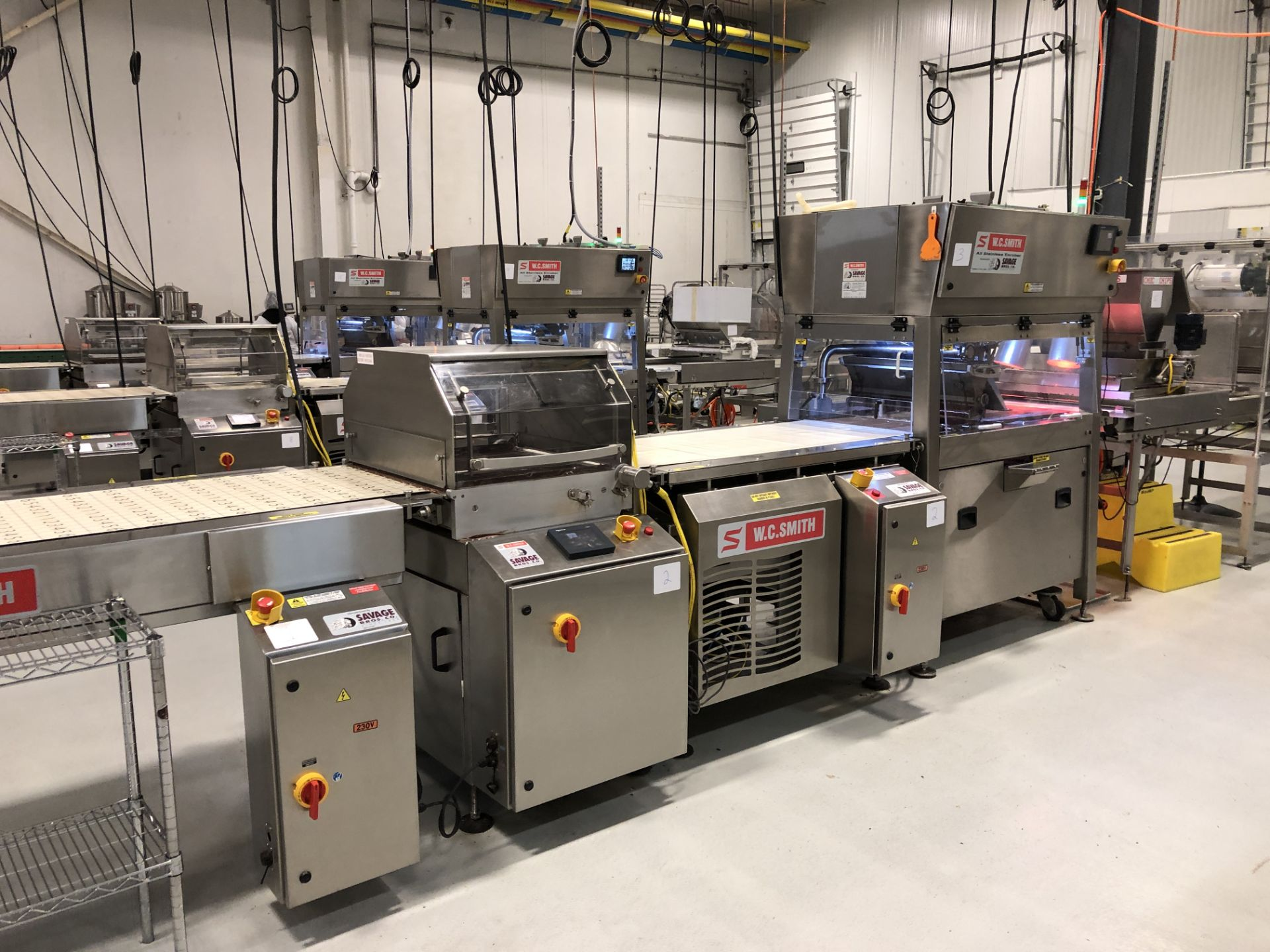 """Lot 2 - Smith 24"""" Stainless Steel Enrobing line – New 2013 - Smith model 5224-49 8-ft long Stainless Steel"""