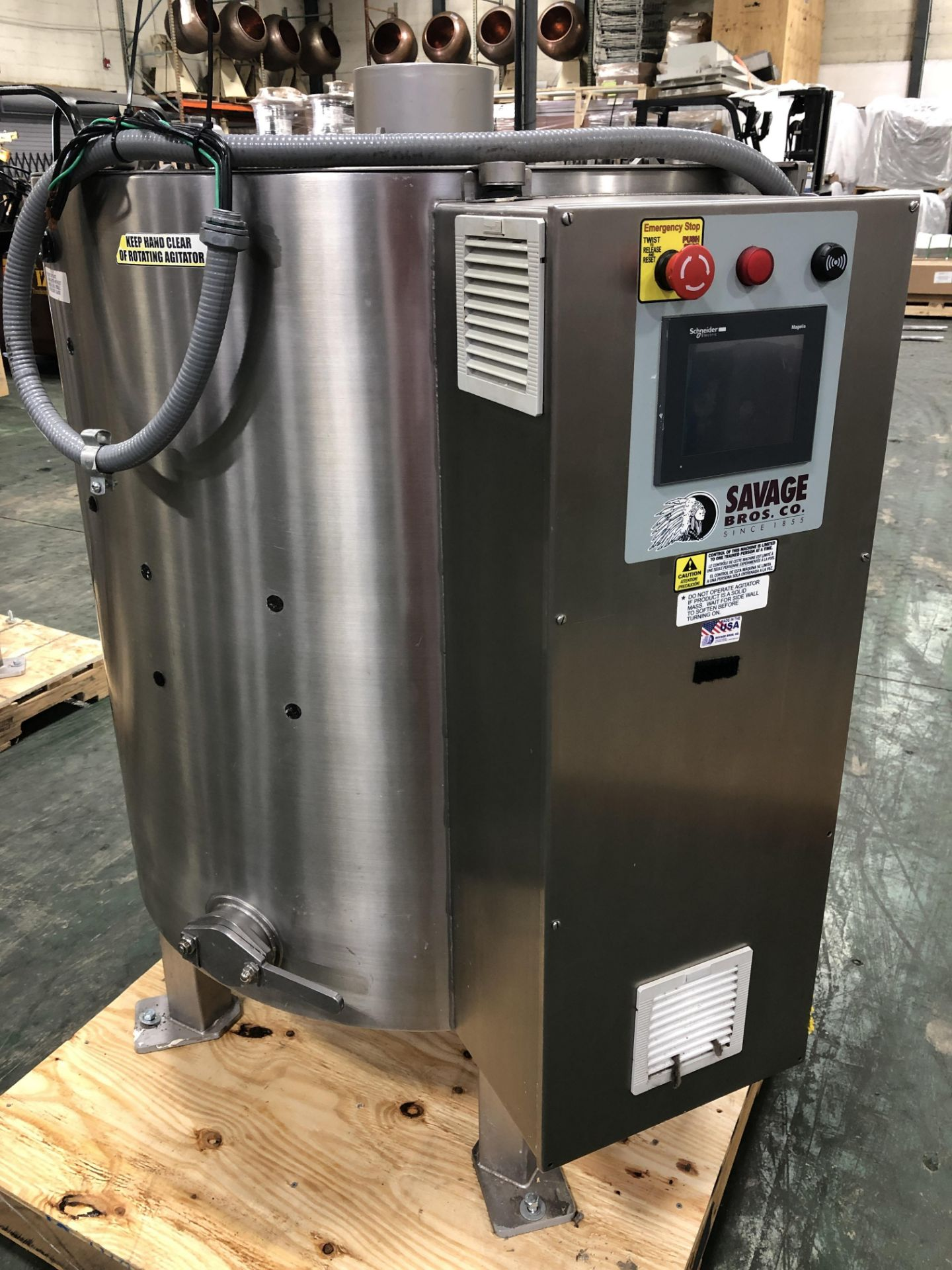 Lot 37 - Savage Stainless Steel 1250-lb Chocolate Melter, model 0974-36, with PLC touchscreen controls