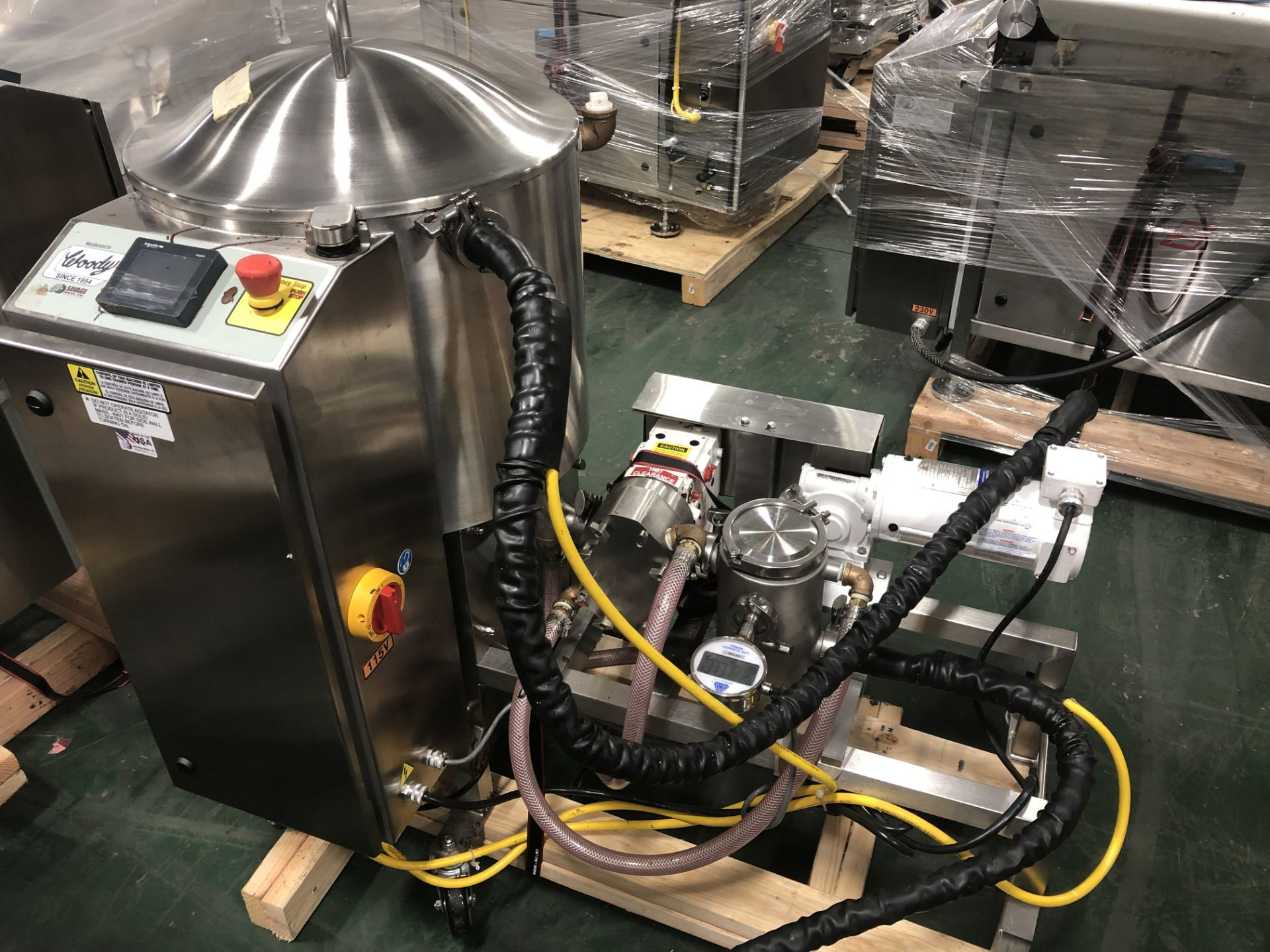 Lot 19 - Savage/Woody 125 lb Stainless Steel Chocolate Melter with Touchscreen controls -Jacketed and