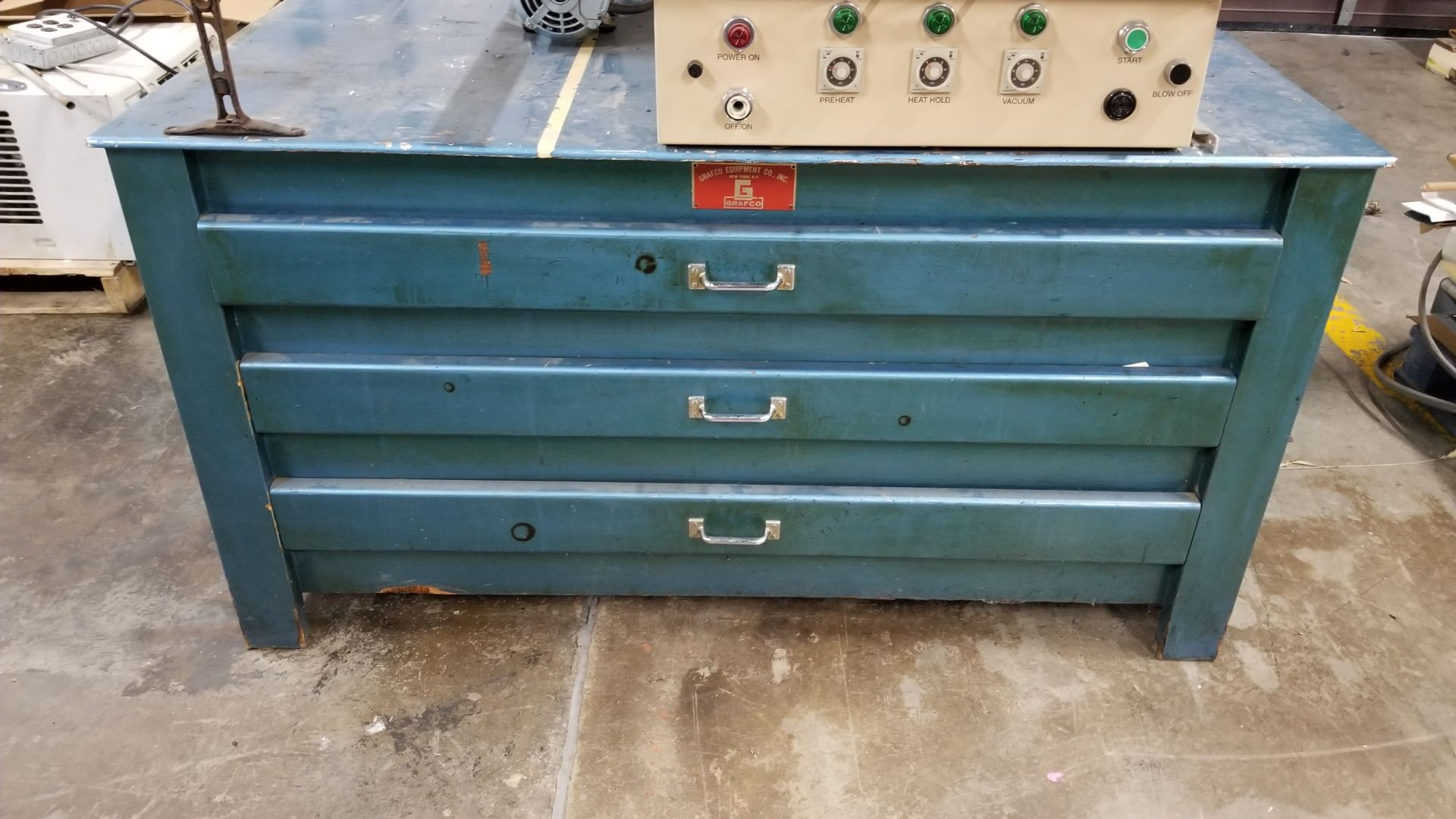 Lot 71 - Grafco wooden drafting cabinet