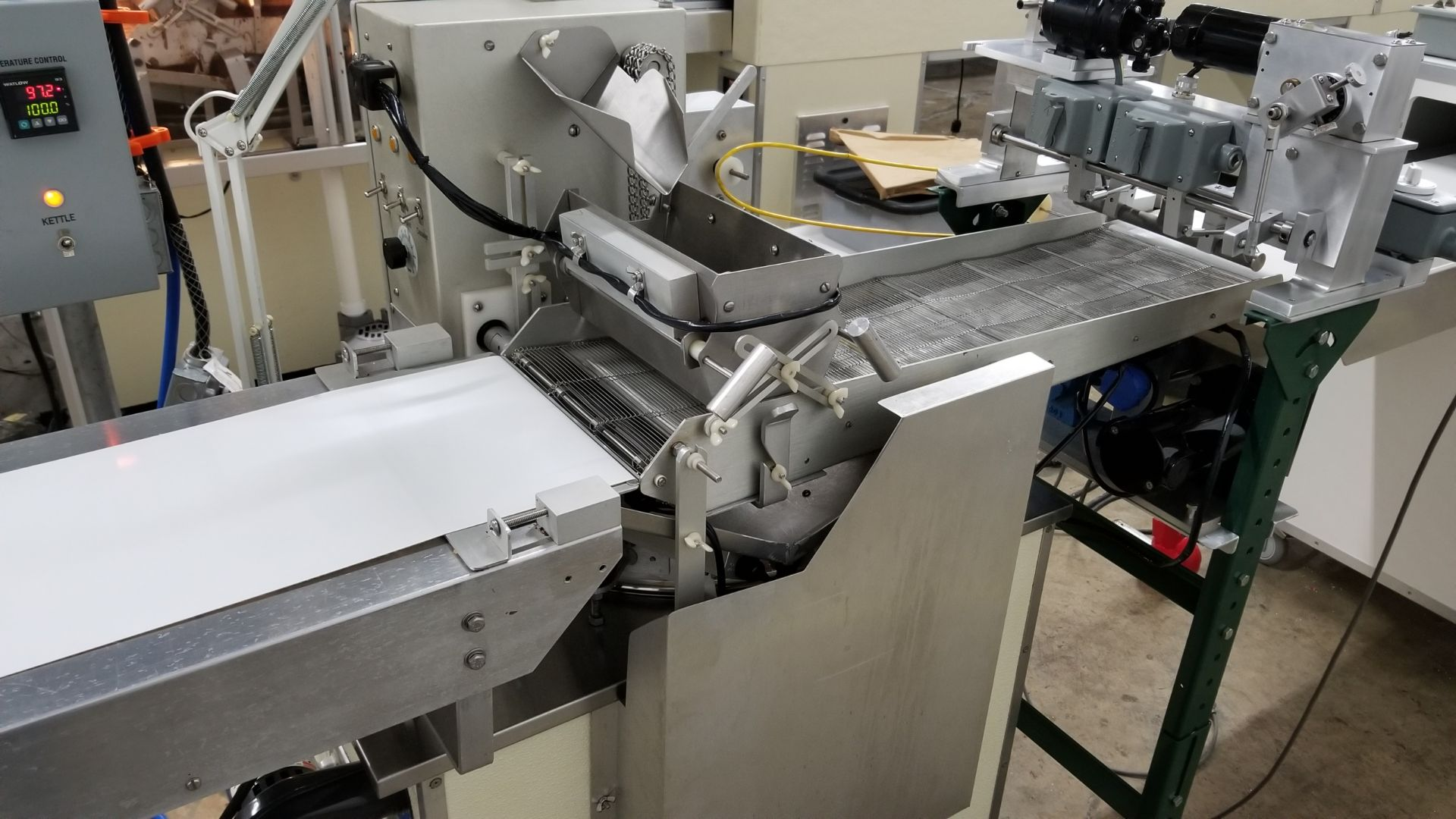 """Lot 18 - Hilliard 10"""" Enrobing Line with 8-ft long feed conveyor, Pre-Bottomer, 8-ft long cold plate with"""