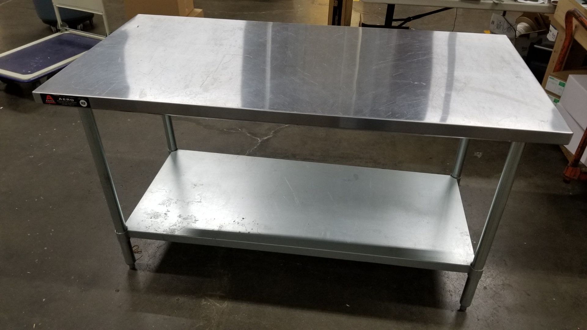 """Lot 61 - 30"""" x 60"""" stainless steel table"""