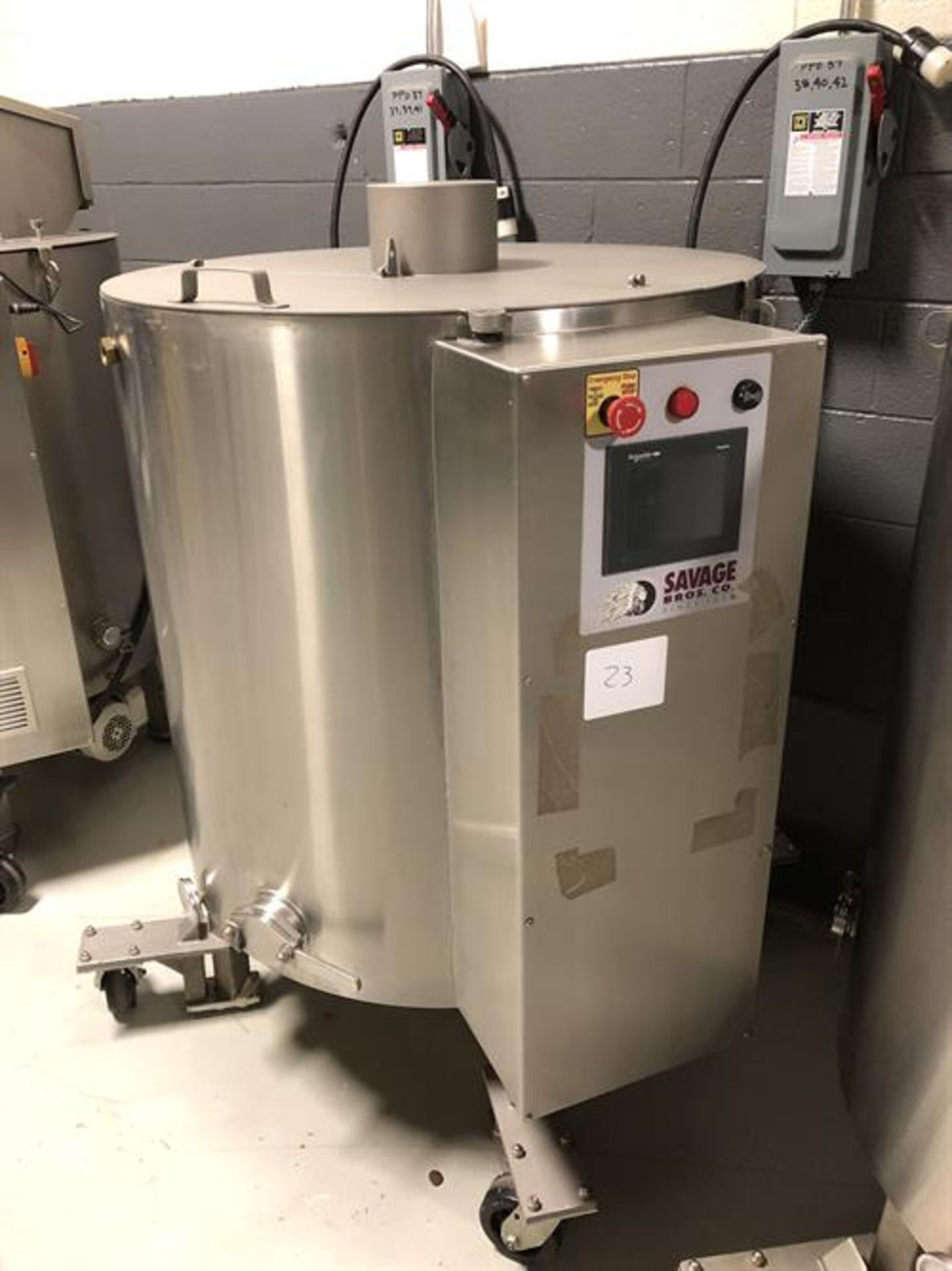 Lot 16 - Savage 1250-lb Stainless Steel Chocolate Melter - model 0974-40, with PLC touchscreen controls, -