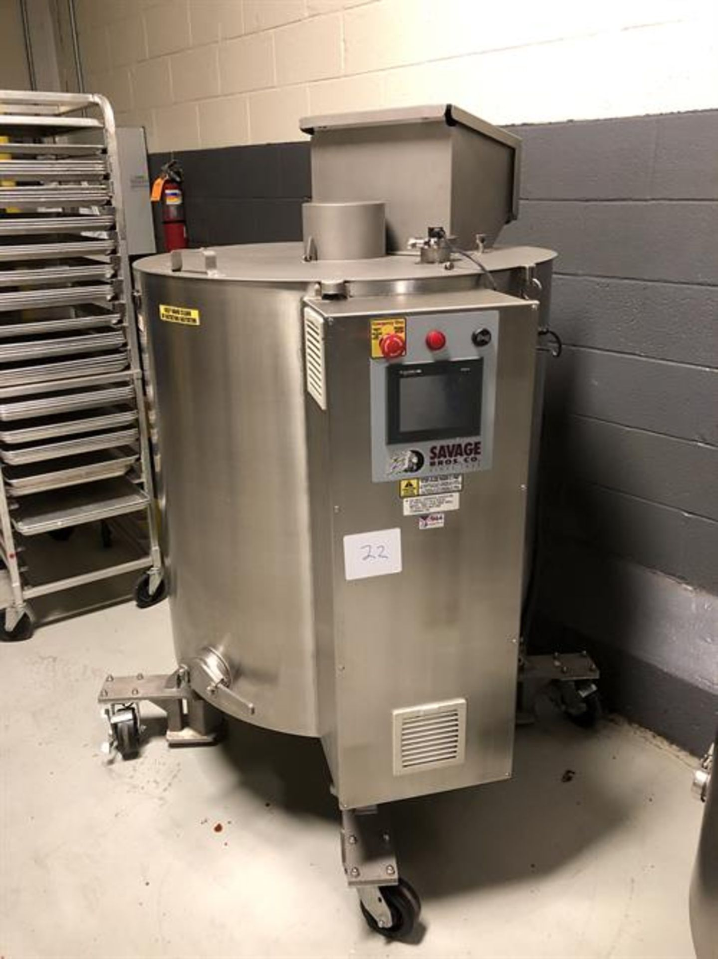 Savage 1250-lb Stainless Steel Choclate Melter - model 0974-46-500, with PLC touchscreen