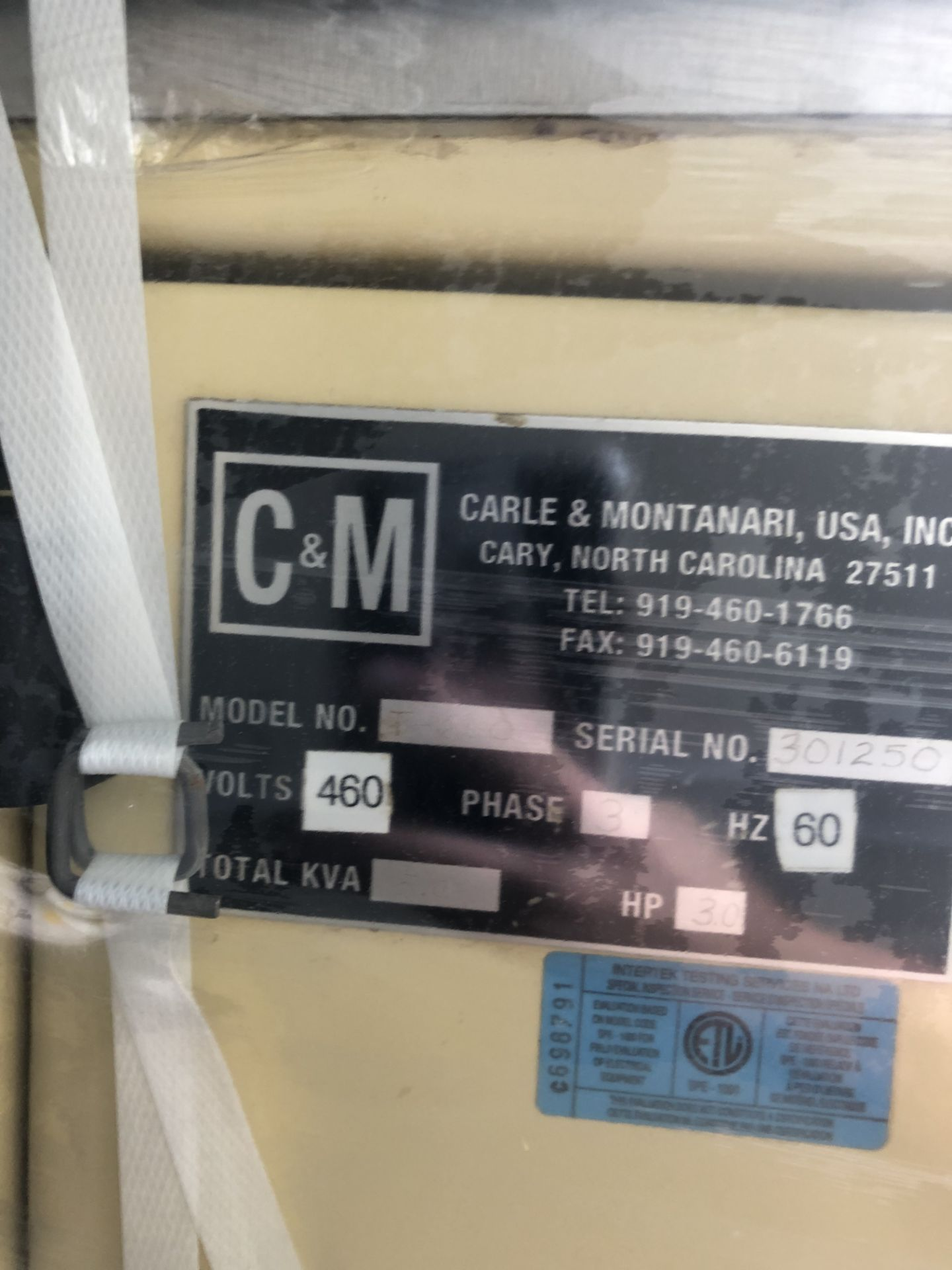 Lot 26 - Carle & Montanari T600 chocolate tempering unit 600lbs/hour with heaters s/n 301250