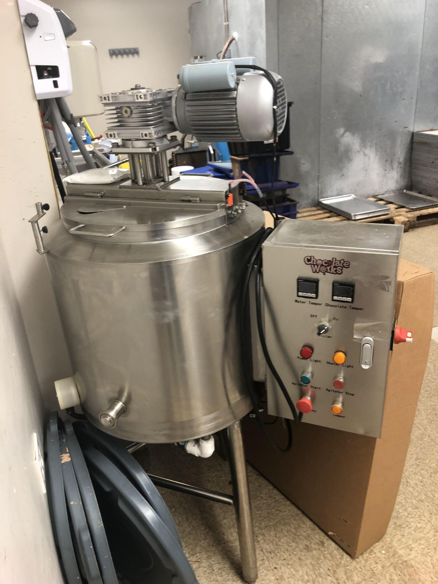 Lot 13 - Keychoc 200-lb Stainless Steel Chocolate melter - Agitated - Water Jacketed - Electric heaters -