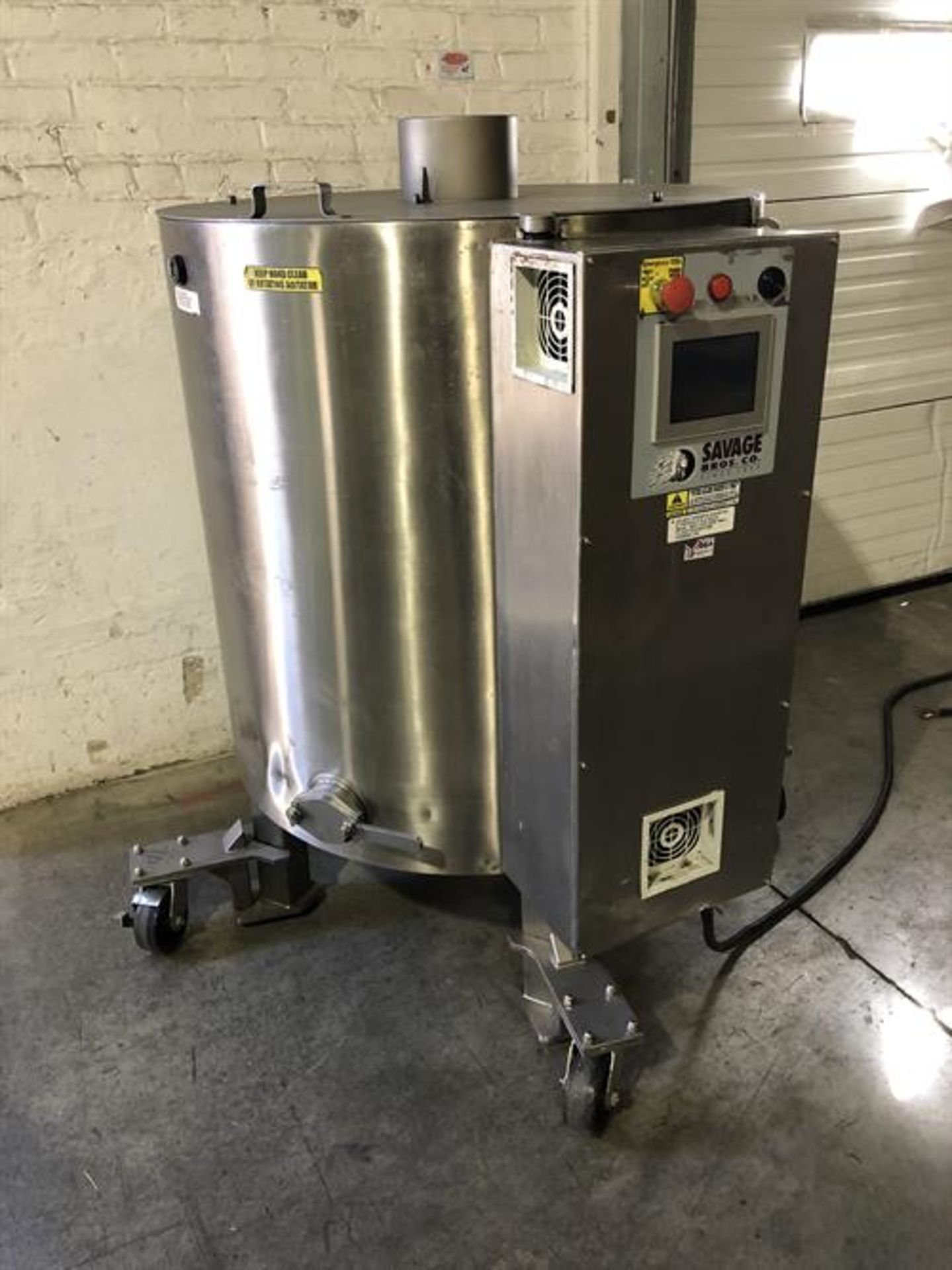 Savage 1250-lb Stainless Steel Chocolate Melter - model 0974-36, with PLC touchscreen controls - - Image 5 of 8