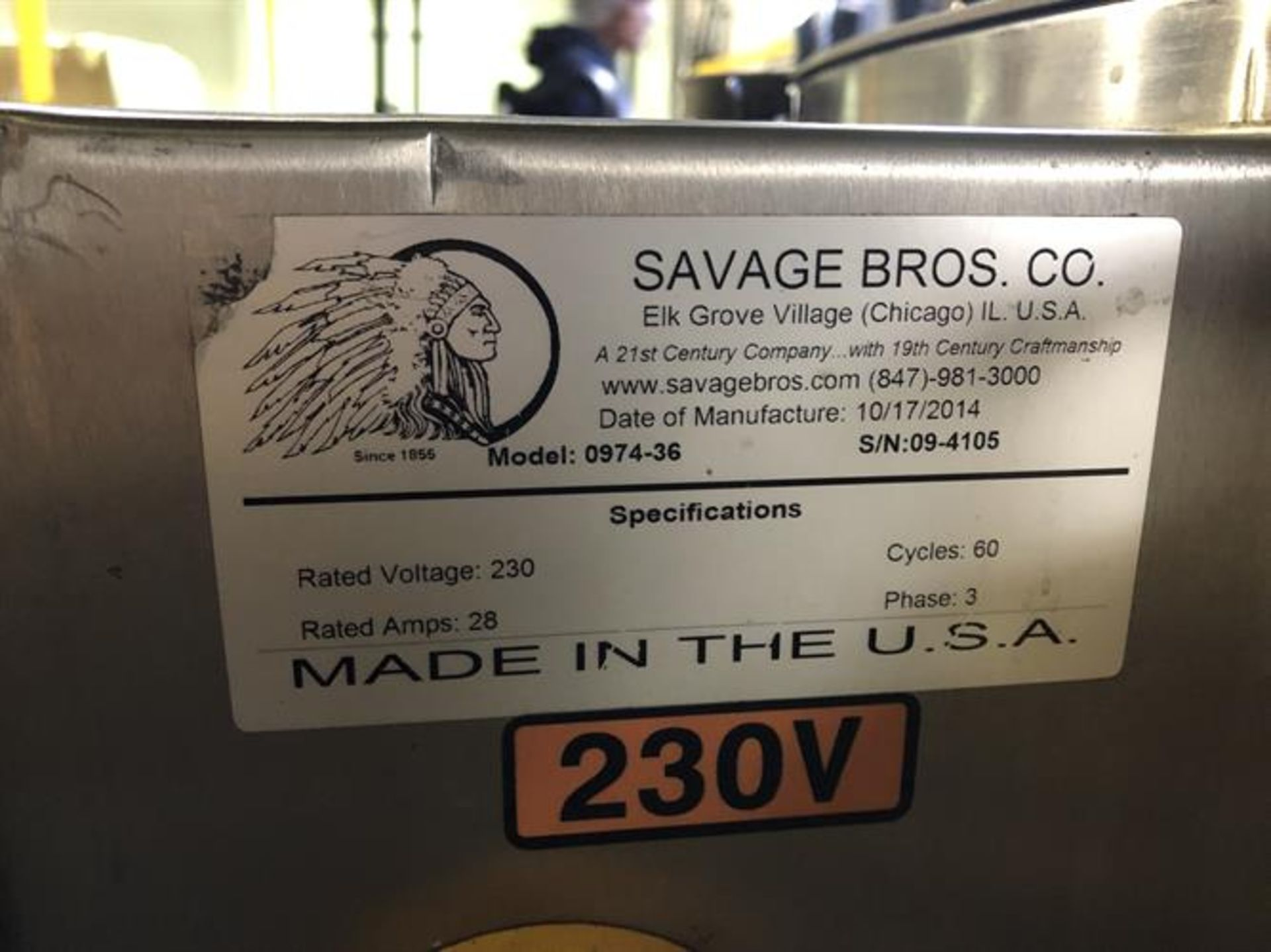 Savage 1250-lb Stainless Steel Chocolate Melter - model 0974-36, with PLC touchscreen controls - - Image 8 of 8