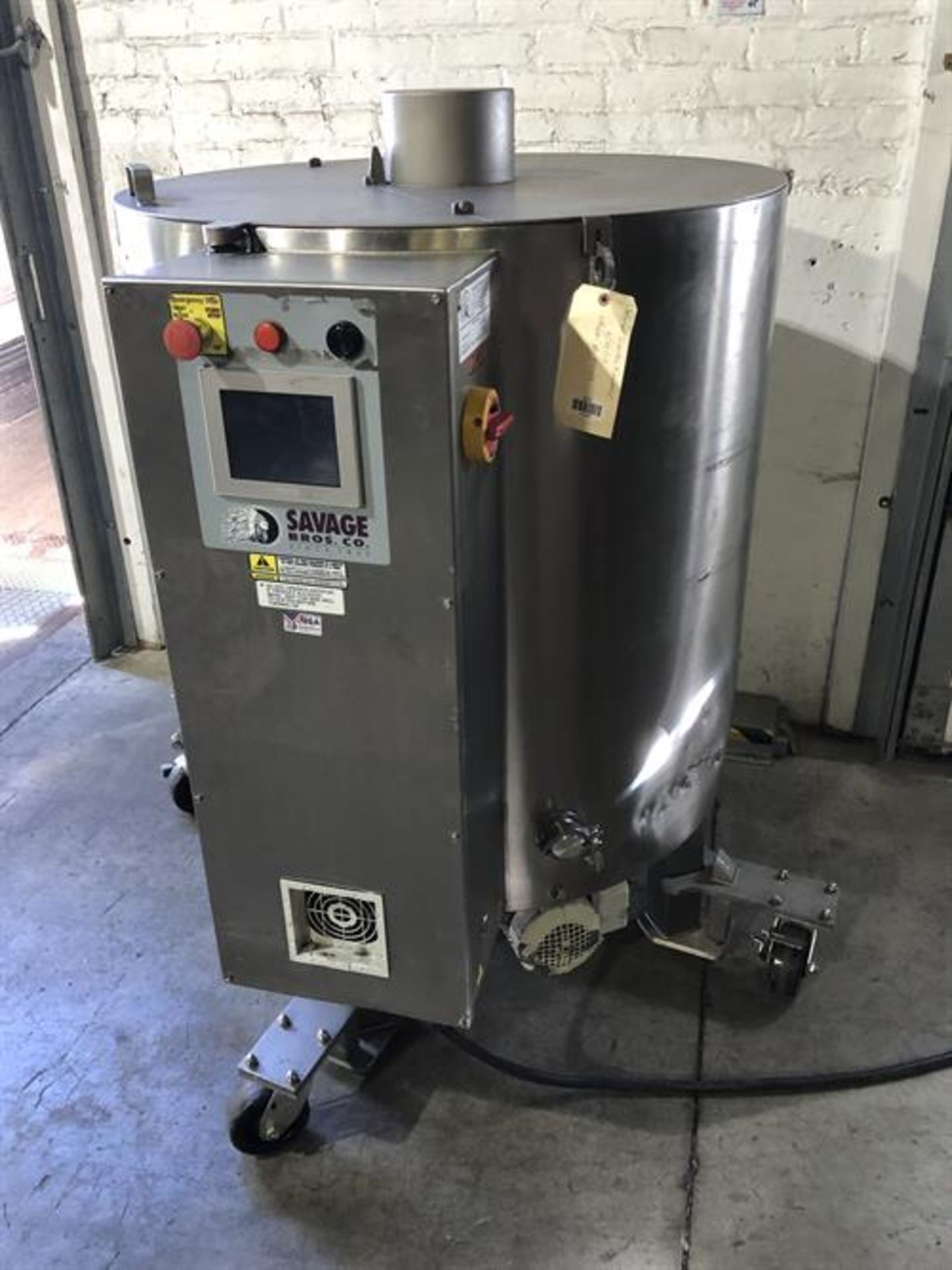 Savage 1250-lb Stainless Steel Chocolate Melter - model 0974-36, with PLC touchscreen controls - - Image 6 of 8