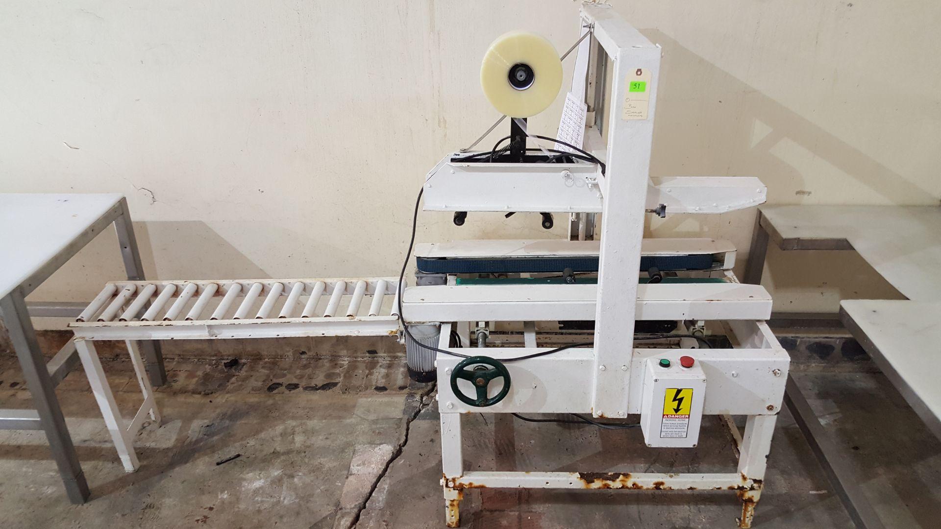 Lot 51 - BOX SEALER MACHINE