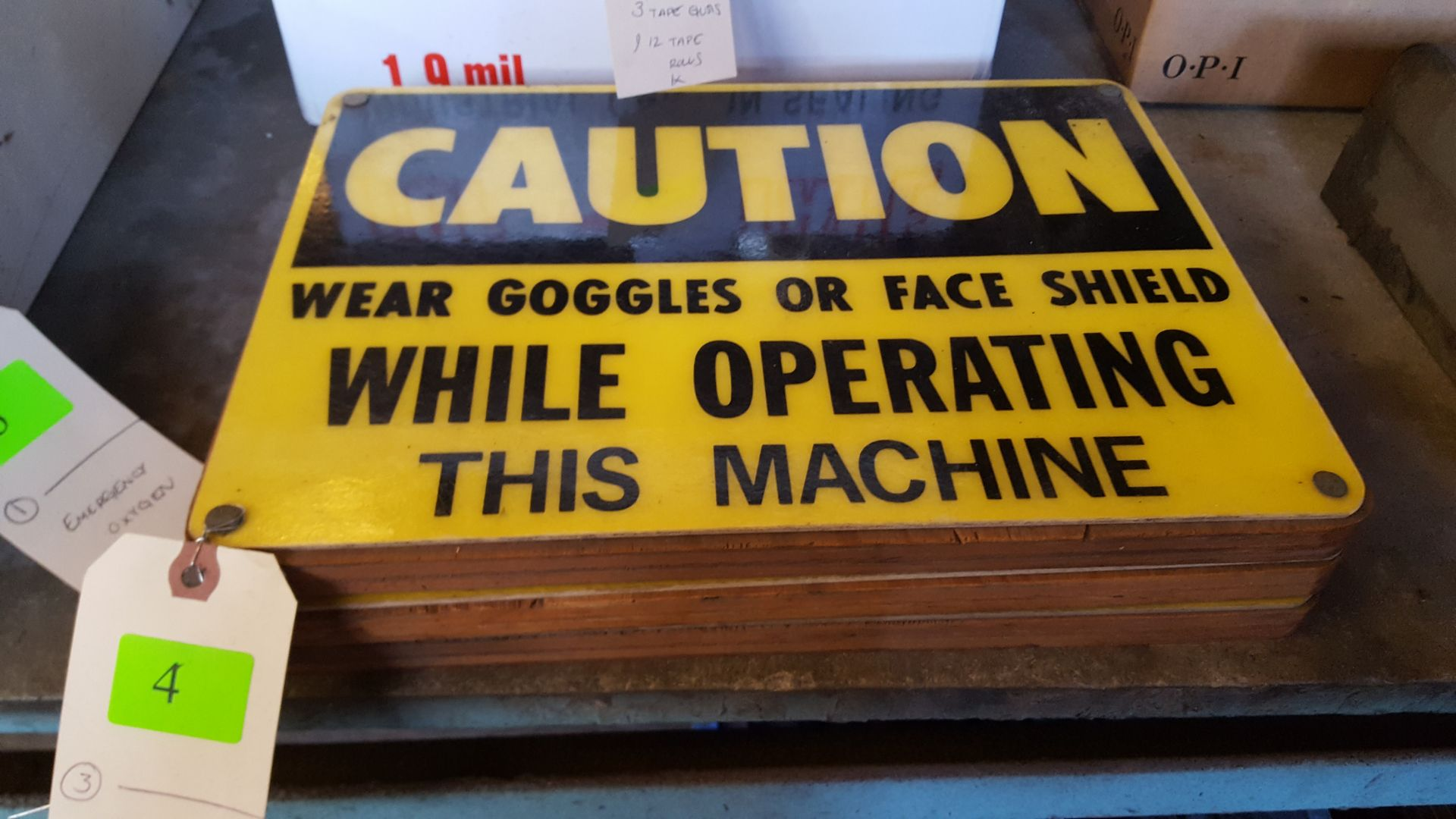 Lot 4 - CAUTION SIGNS