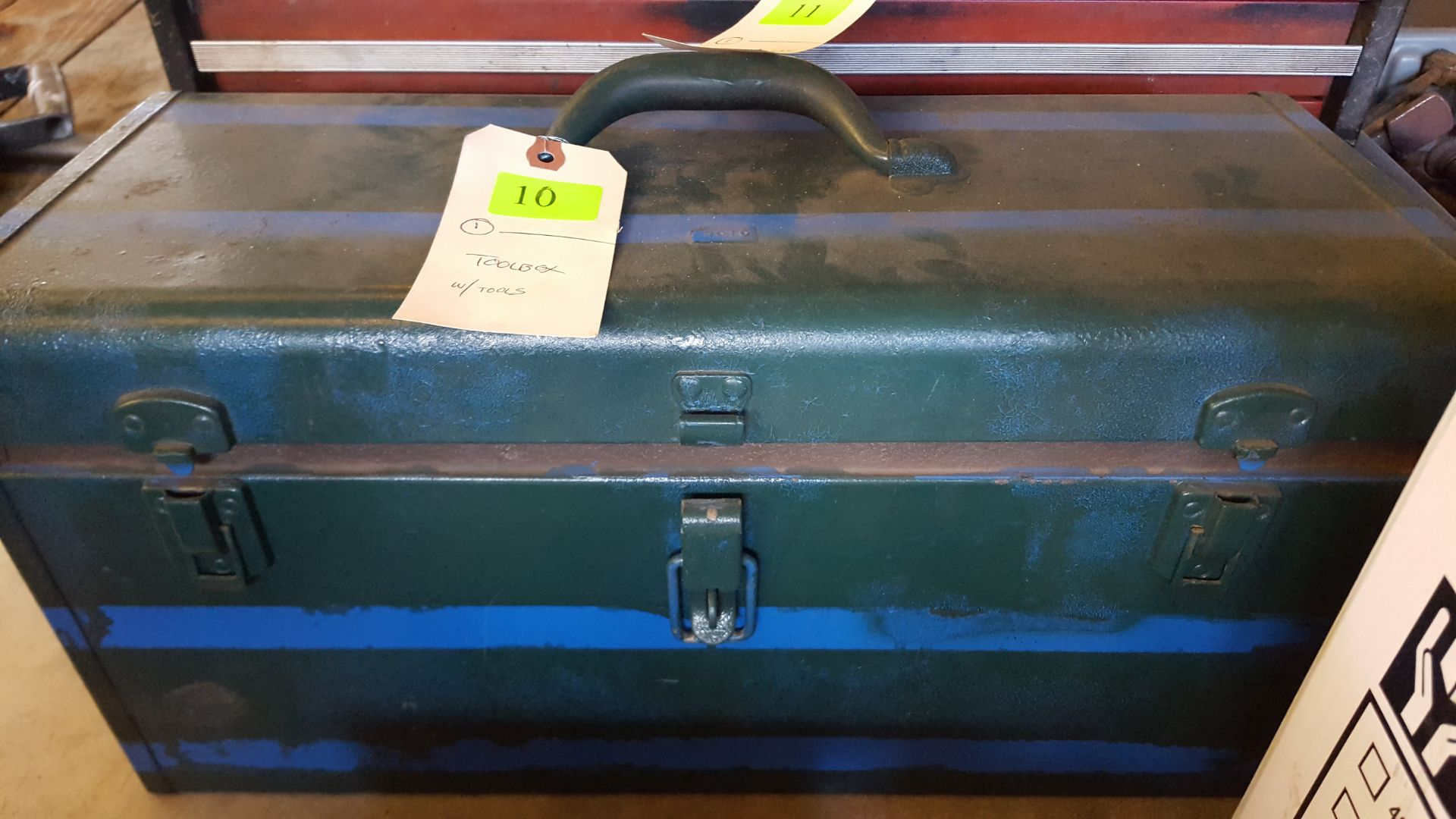 Lot 10 - TOOL BOX WITH TOOLS