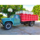 Lot 2A - 1965 Ford F-600 Grain Truck, 390 V-8, 5/2spd, 16' Wood Box w/Hoist (clean)