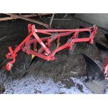 Lot 56 - Massey-Ferguson Mdl.72 S#009089, 3pt 4 Bott. Semi Mount Plow (repainted)