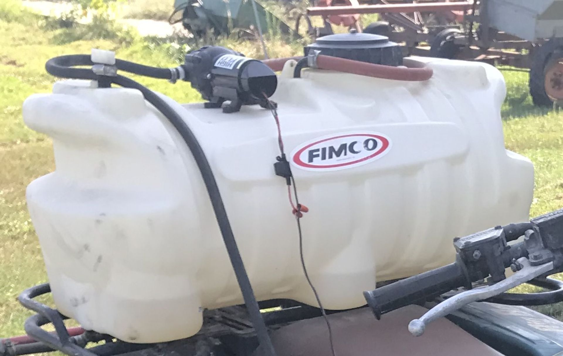 """Lot 44 - Fimco 25gal. 12v Sprayer w/36"""" Boom"""
