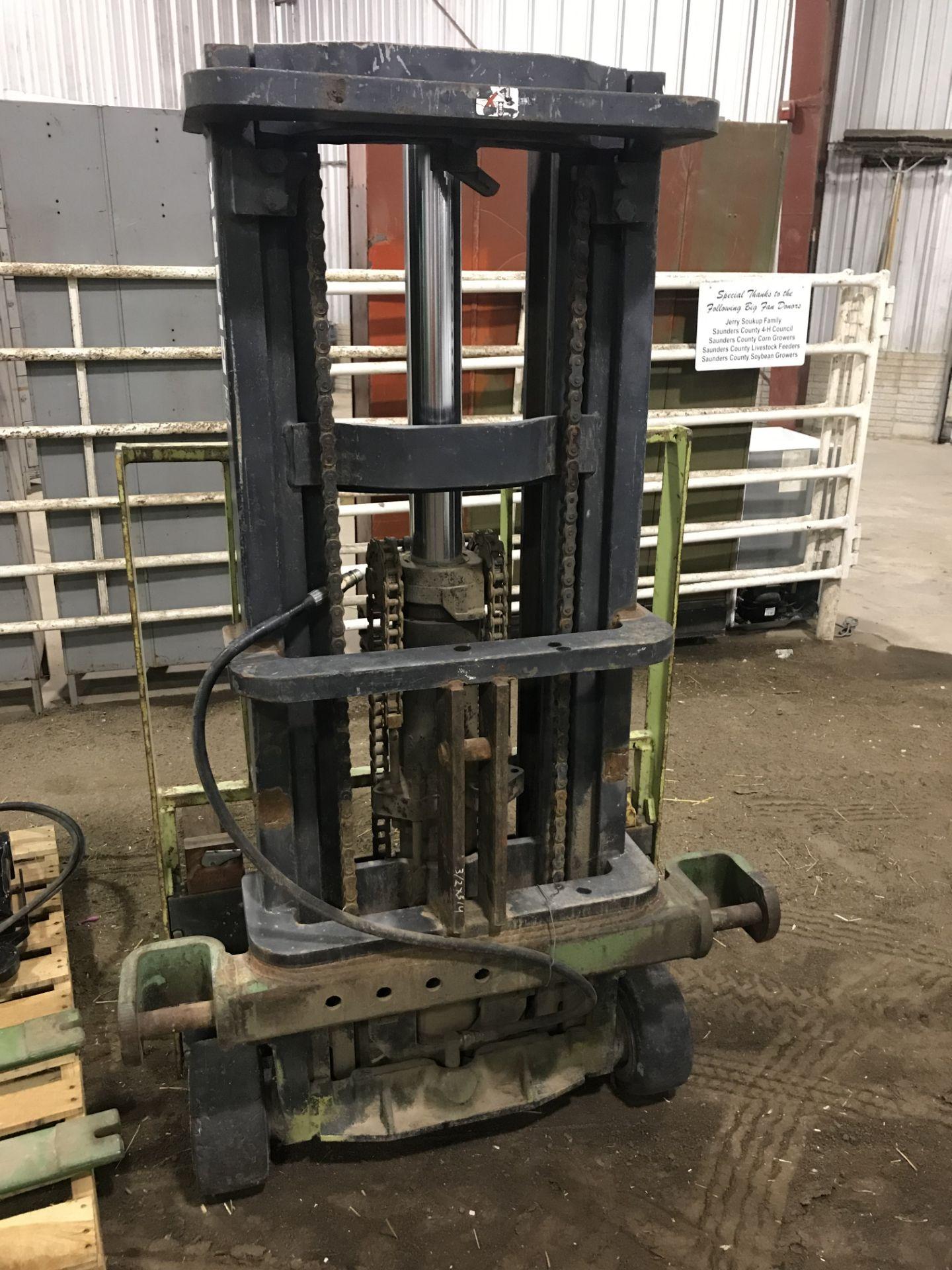 """Lot 24 - Clark 3pt 2 Stage Forklift Mast w/42"""" Forks;"""