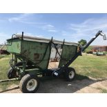 Lot 41 - Huskee Mdl.165 Gravity Wagon w/Unverferth Hyd. Bean Auger