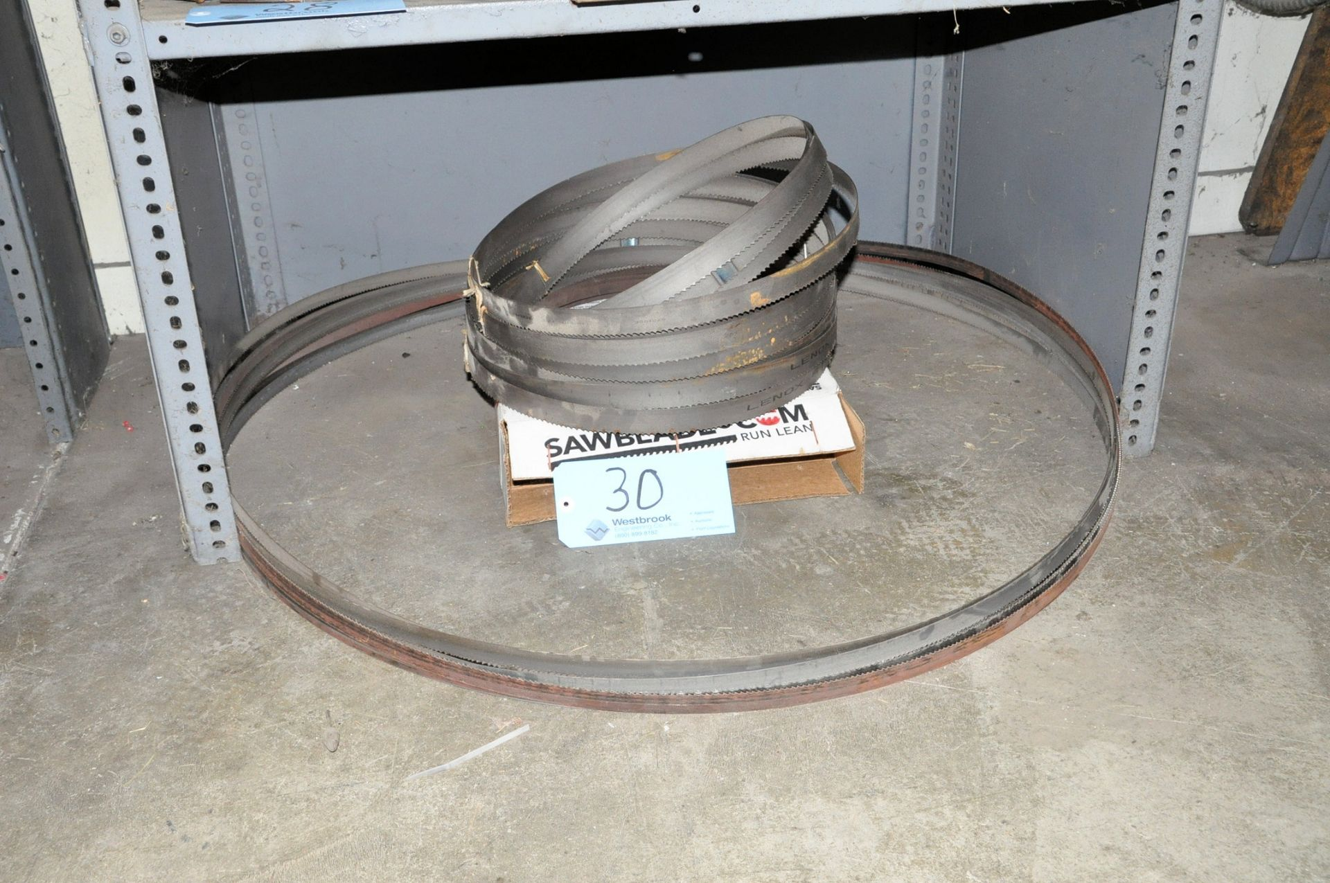Lot 30 - Lot-Band Saw Blades Under (1) Shelf
