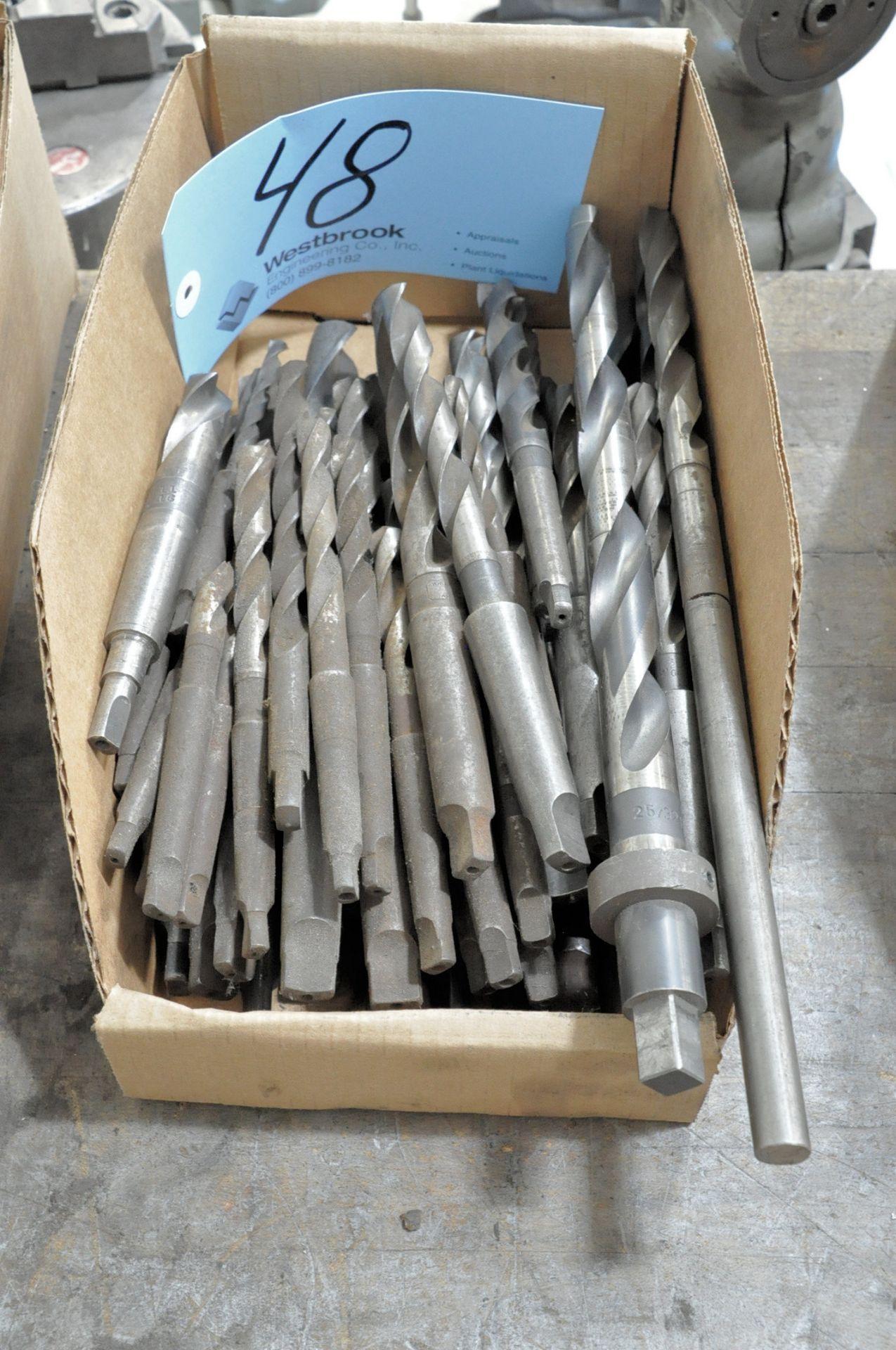 Lot 48 - Lot-Taper Shank Drills in (1) Box