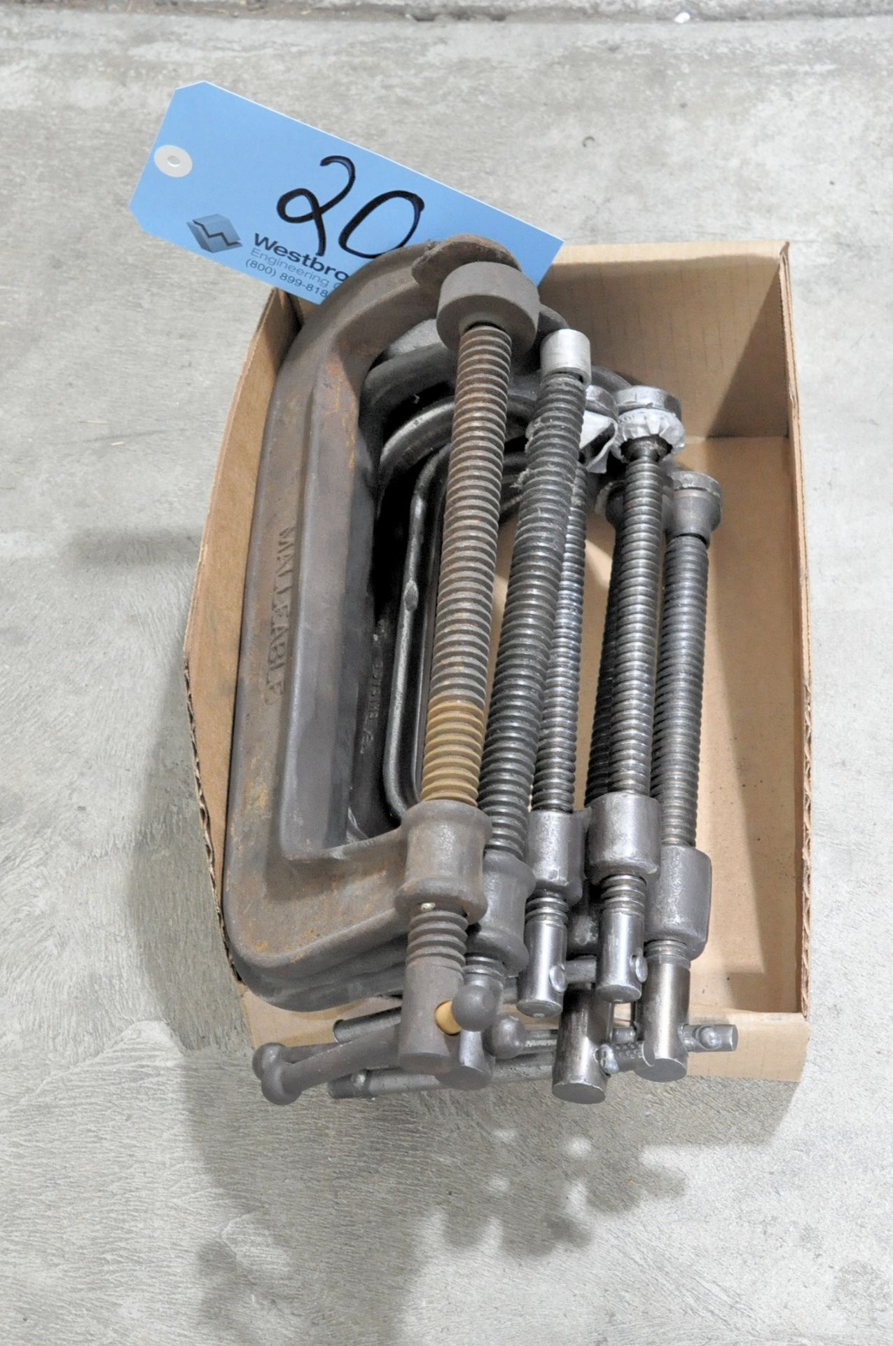 """Lot-(6) 8"""" C-Clamps in (1) Box"""