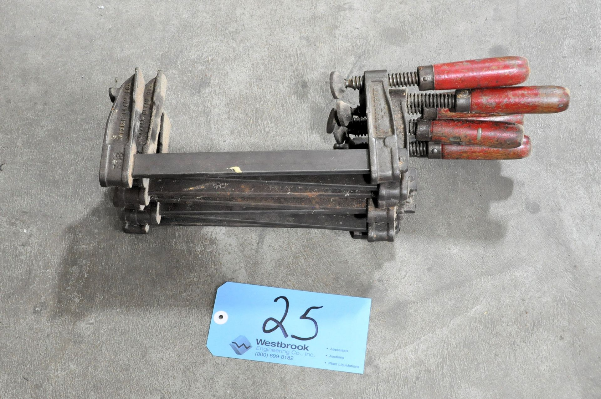 """Lot 25 - Lot-(7) 9"""" Bar Clamps in (1) Stack"""