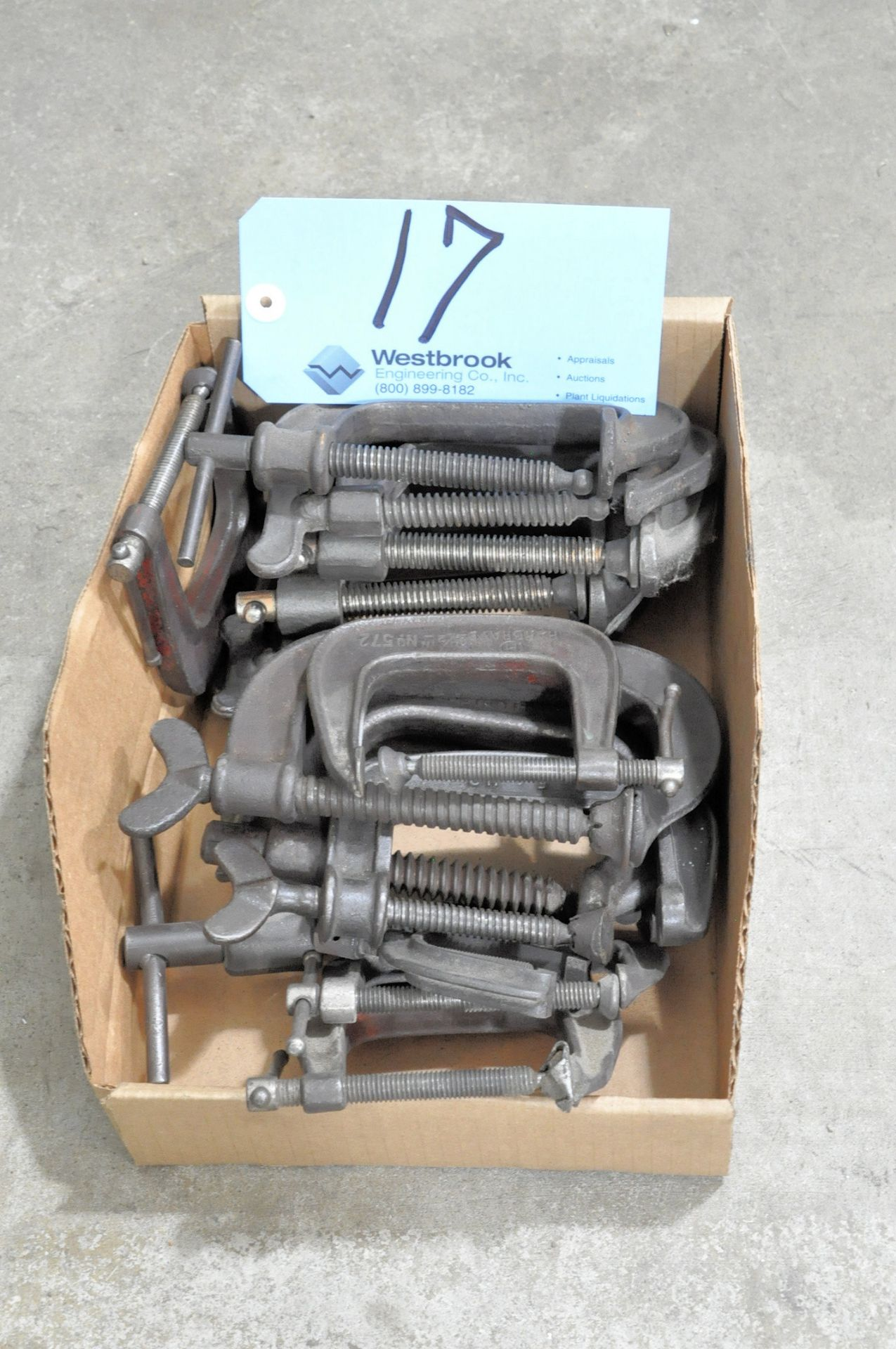 Lot 17 - Lot-Assorted C-Clamps in (1) Box
