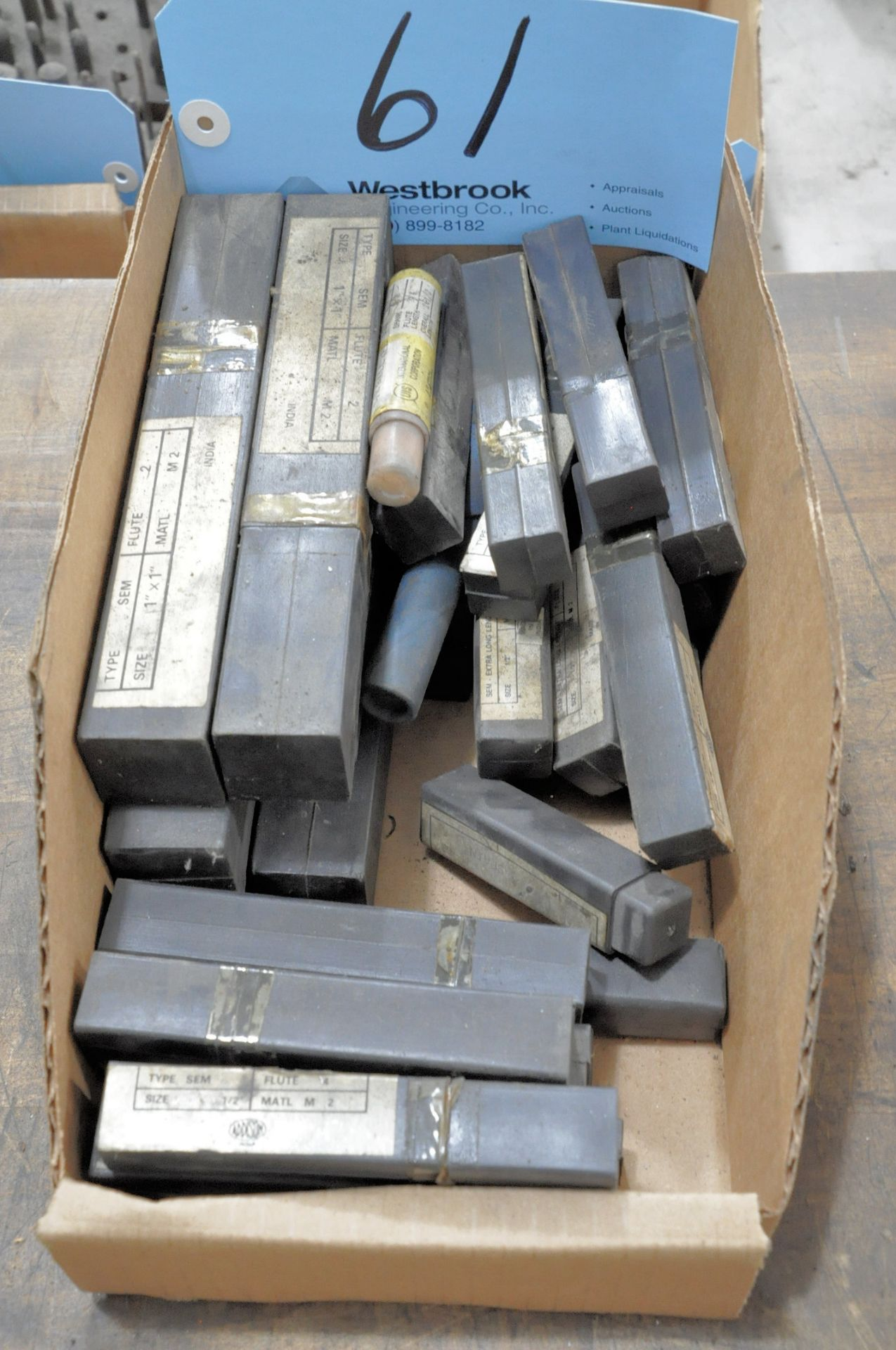 Lot 61 - Lot-Packaged End Mills in (1) Box