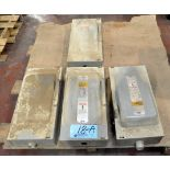 Lot-(4) I-T-E 100-Amp Capacity Enclosed Switch Boxes on (1) Pallet