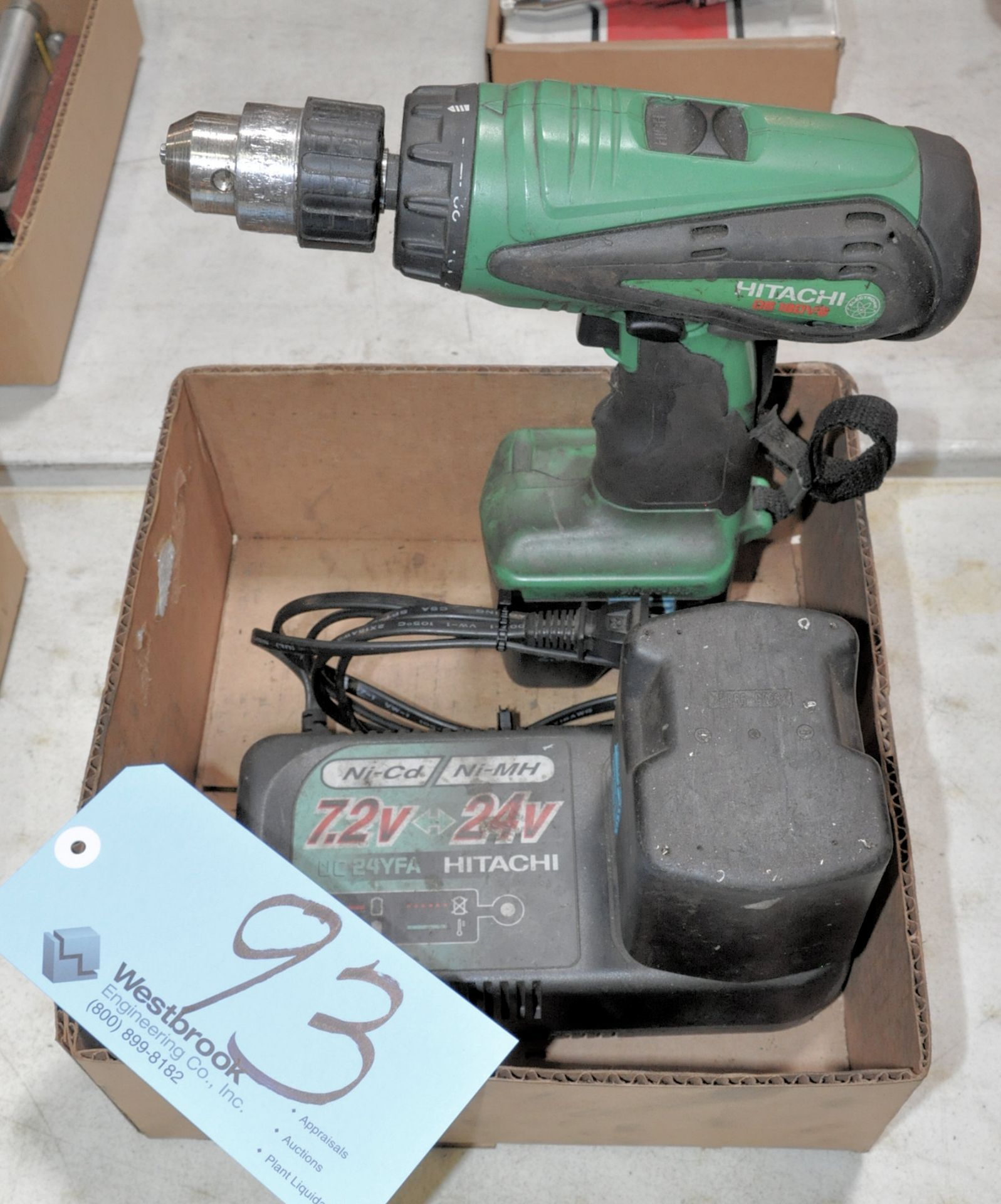 Lot 93 - Hitachi DS180 V6, 18-Volt Cordless Drill with (2) Batteries and (1)