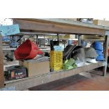 Lot-Safety Helmets, Boots, Knee Pads, Shop Aprons and Charger