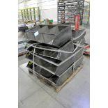 Lot-Steel Parts Bins on (1) Pallet