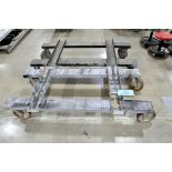 Lot-(2) 4-Wheel Industrial Custom Fabricated Stock Carts