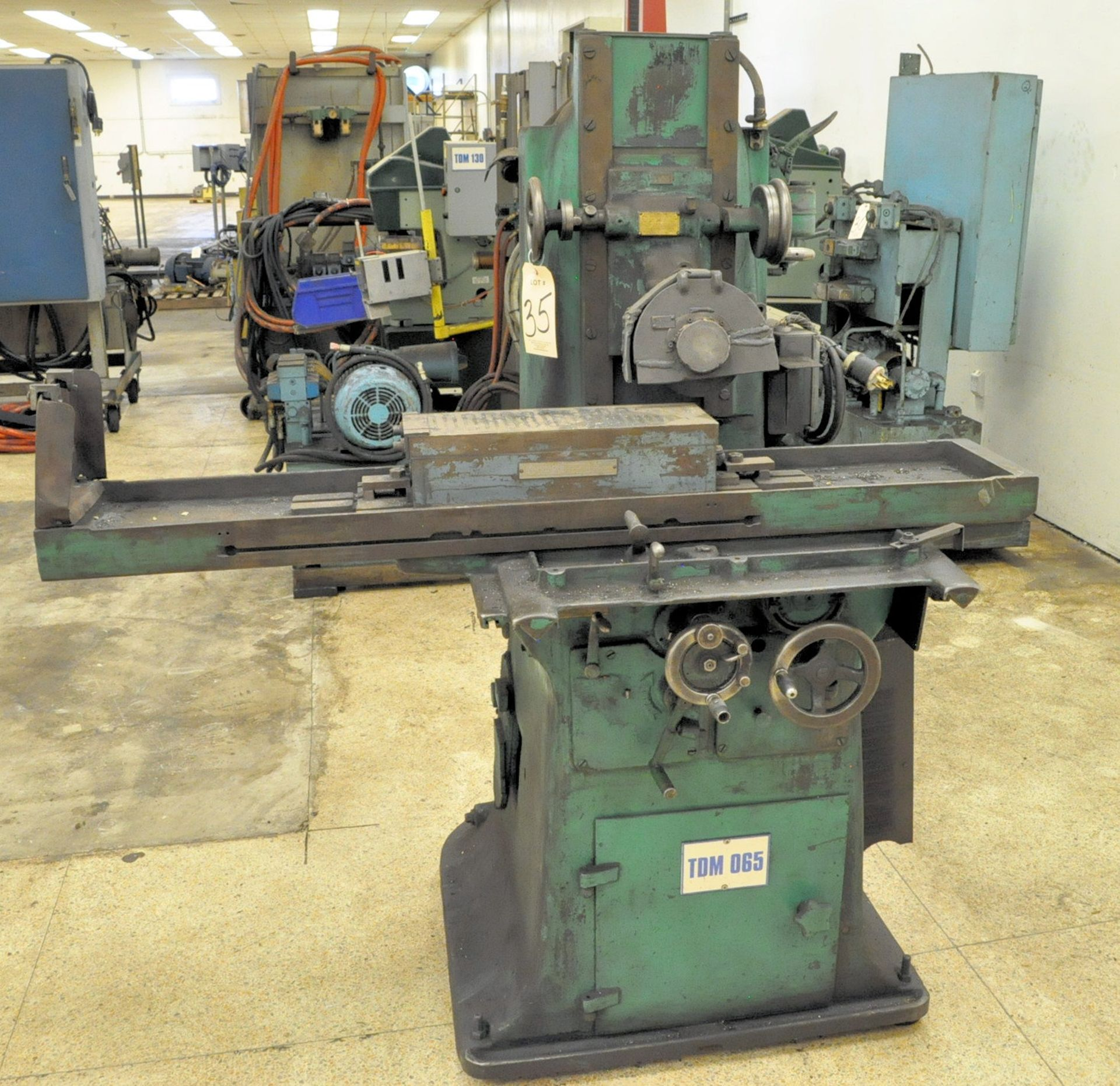 """Lot 35 - No Name 6"""" x 18"""" Hand Feed Surface Grinder, S/n 1436"""