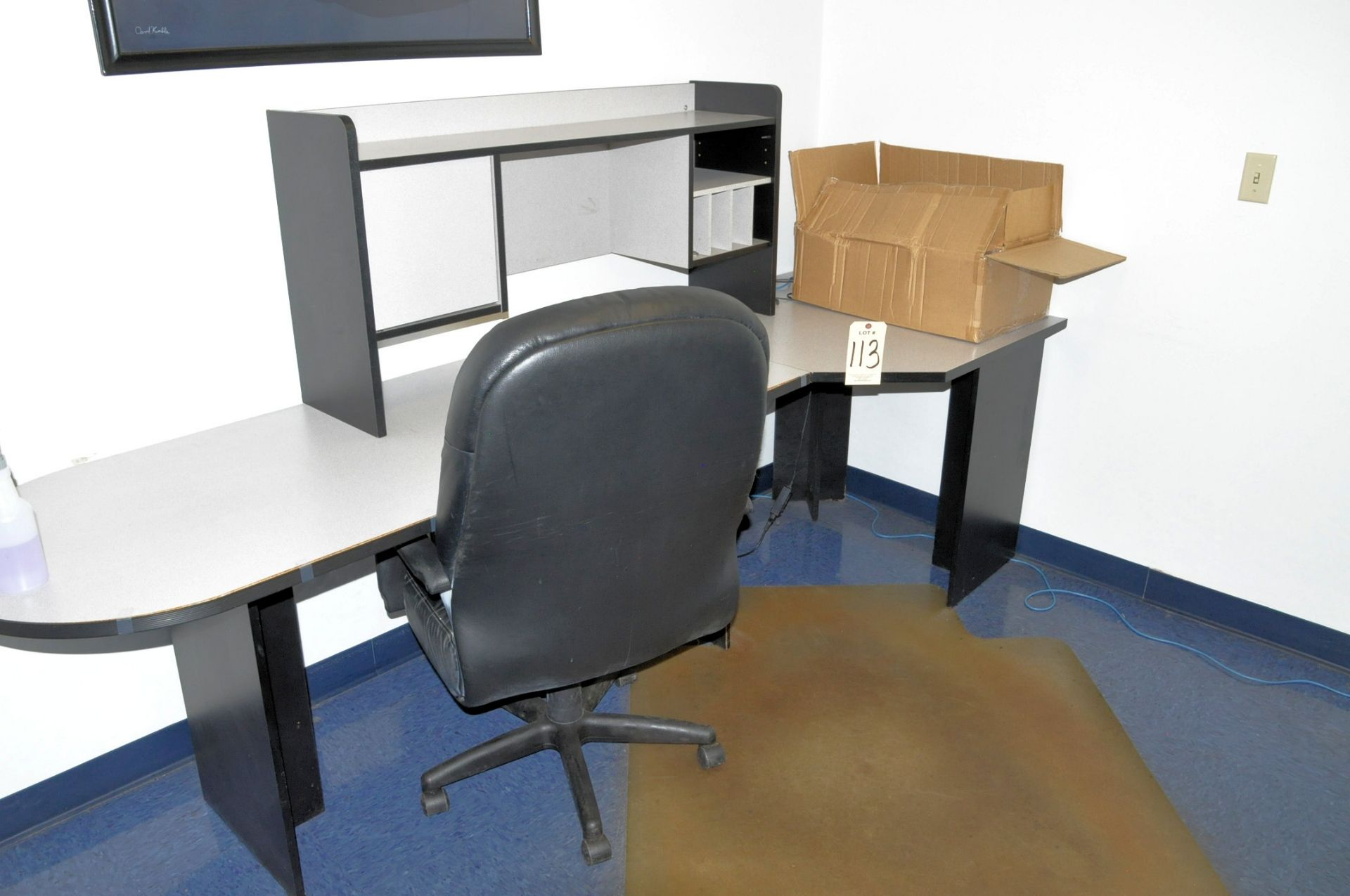Lot 113 - Lot-(2) Desks and (2) Chairs in (1) Office